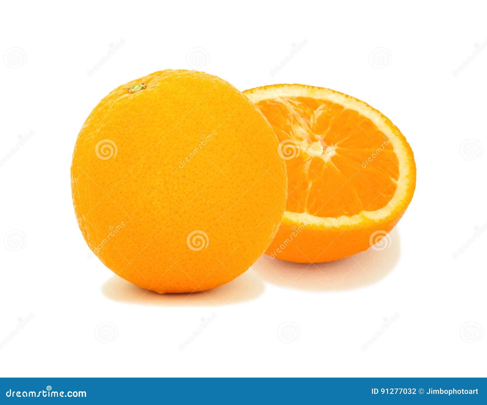 Orange frukt som isoleras på white