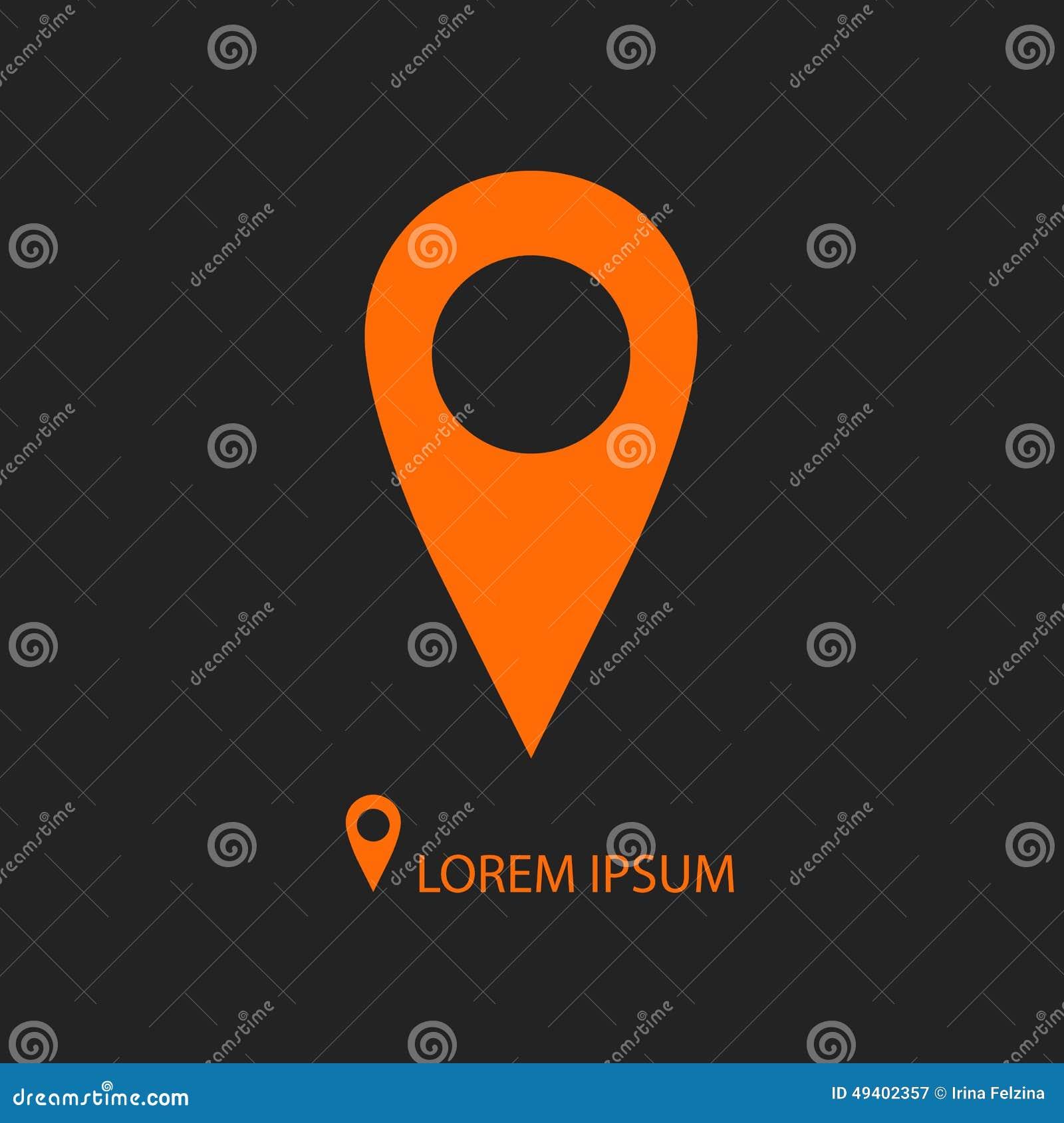 Download Orange Geo Stift Als Logo Auf Schwarzem Vektor Abbildung - Illustration von abbildung, markierung: 49402357