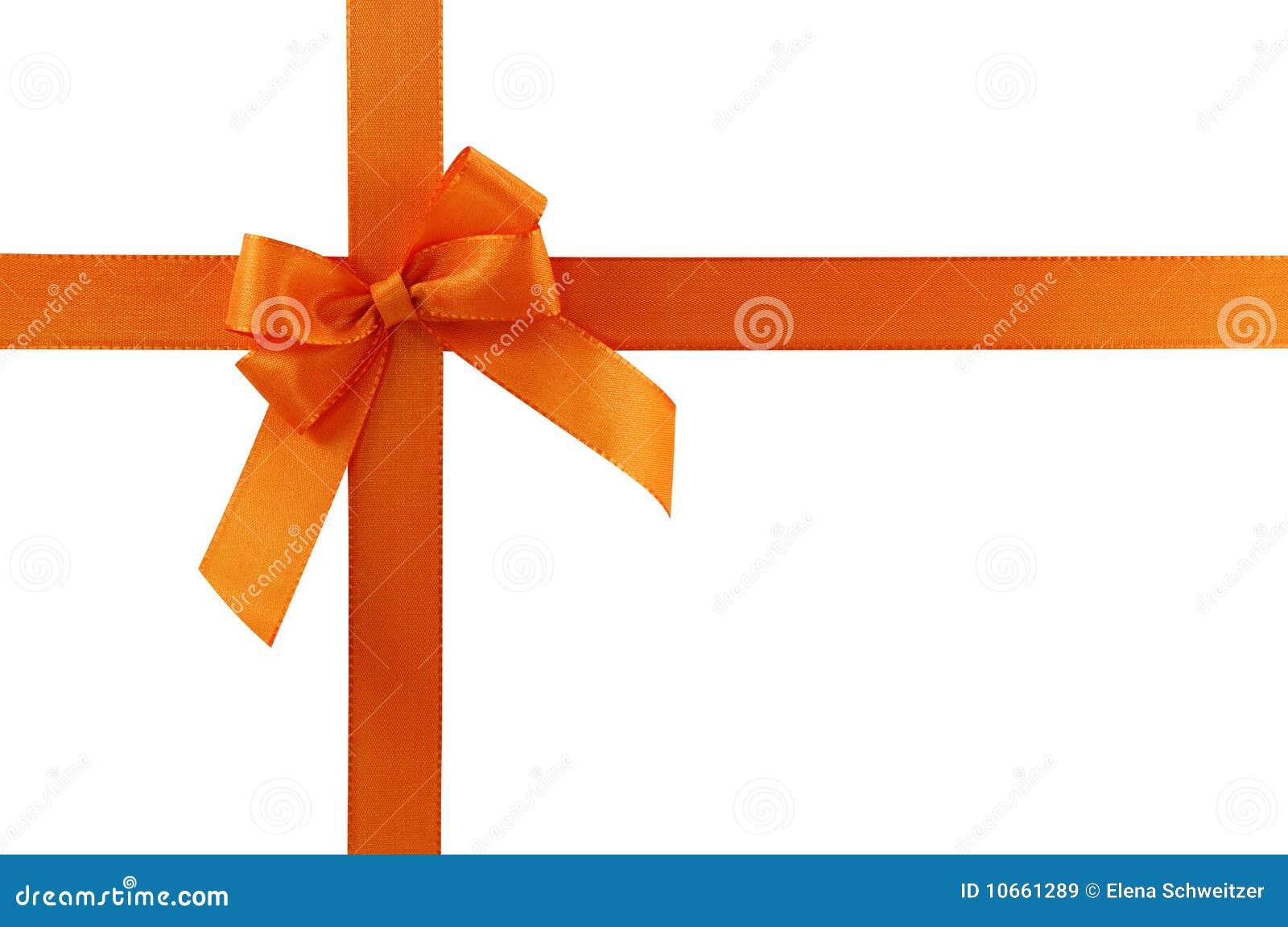 Orange gift bow