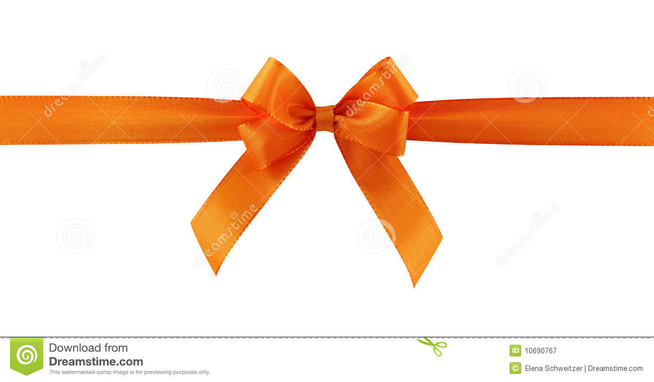 Orange gift bow stock image image of background path 10661275 orange gift bow royalty free stock photography negle Image collections