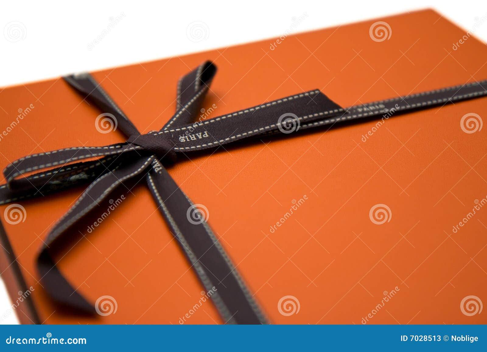 Orange gift box
