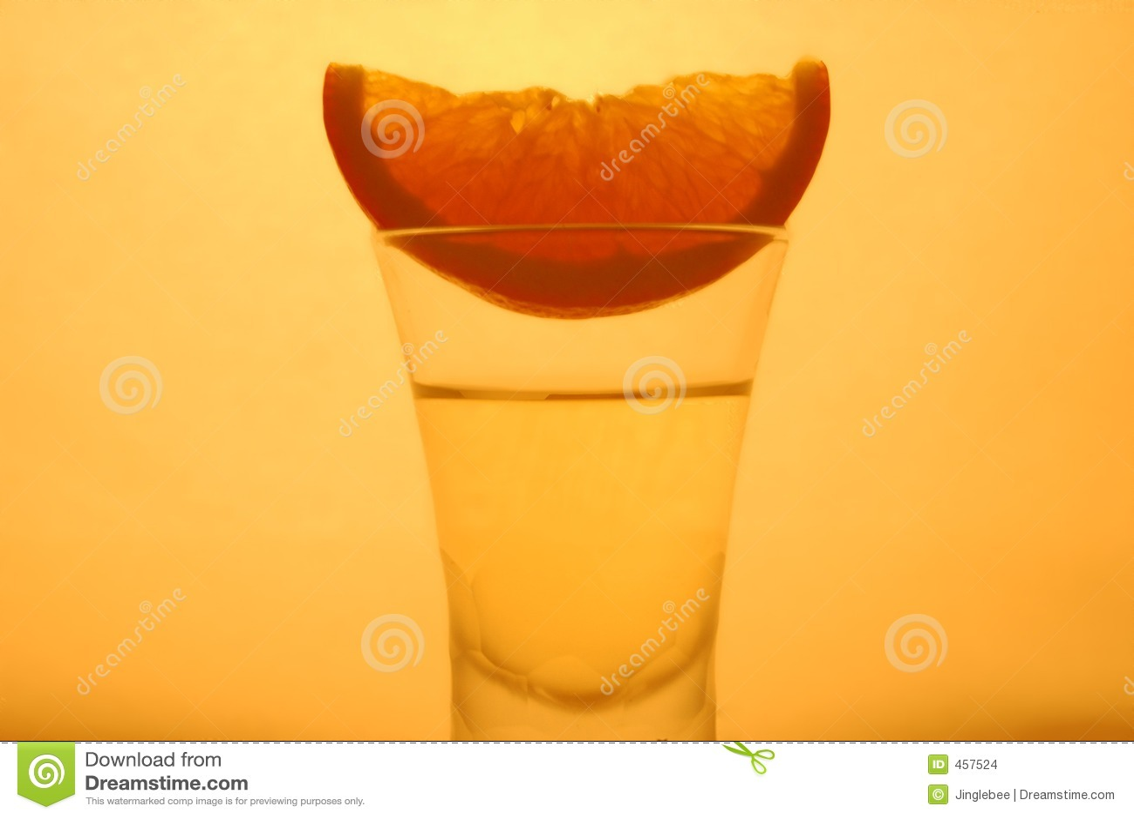 Download Orange in a glass stock illustration. Illustration of wine - 457524