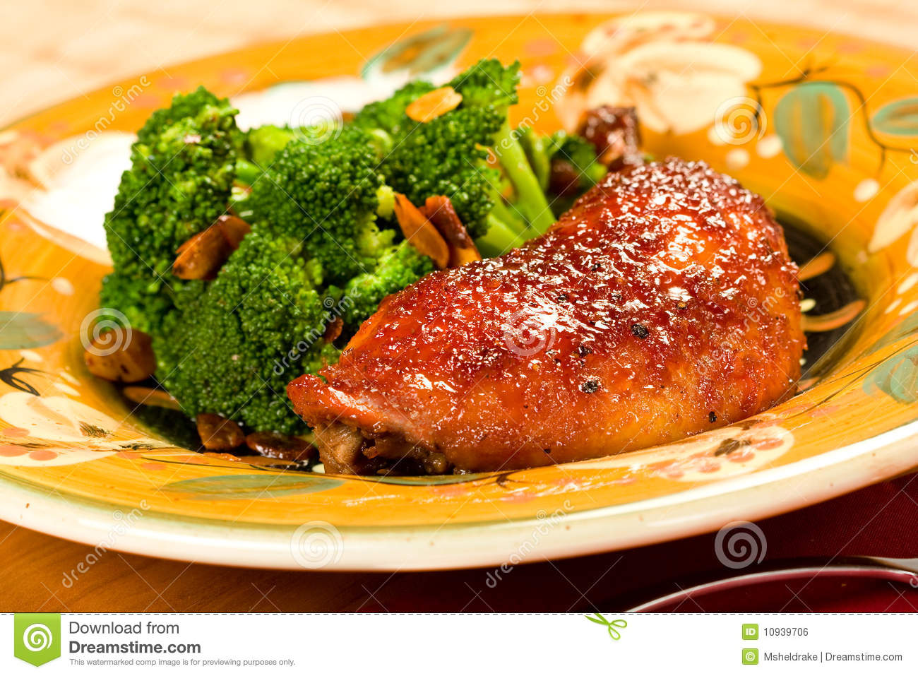 Orange Glazed Chicken Royalty Free Stock Image - Image: 10939706