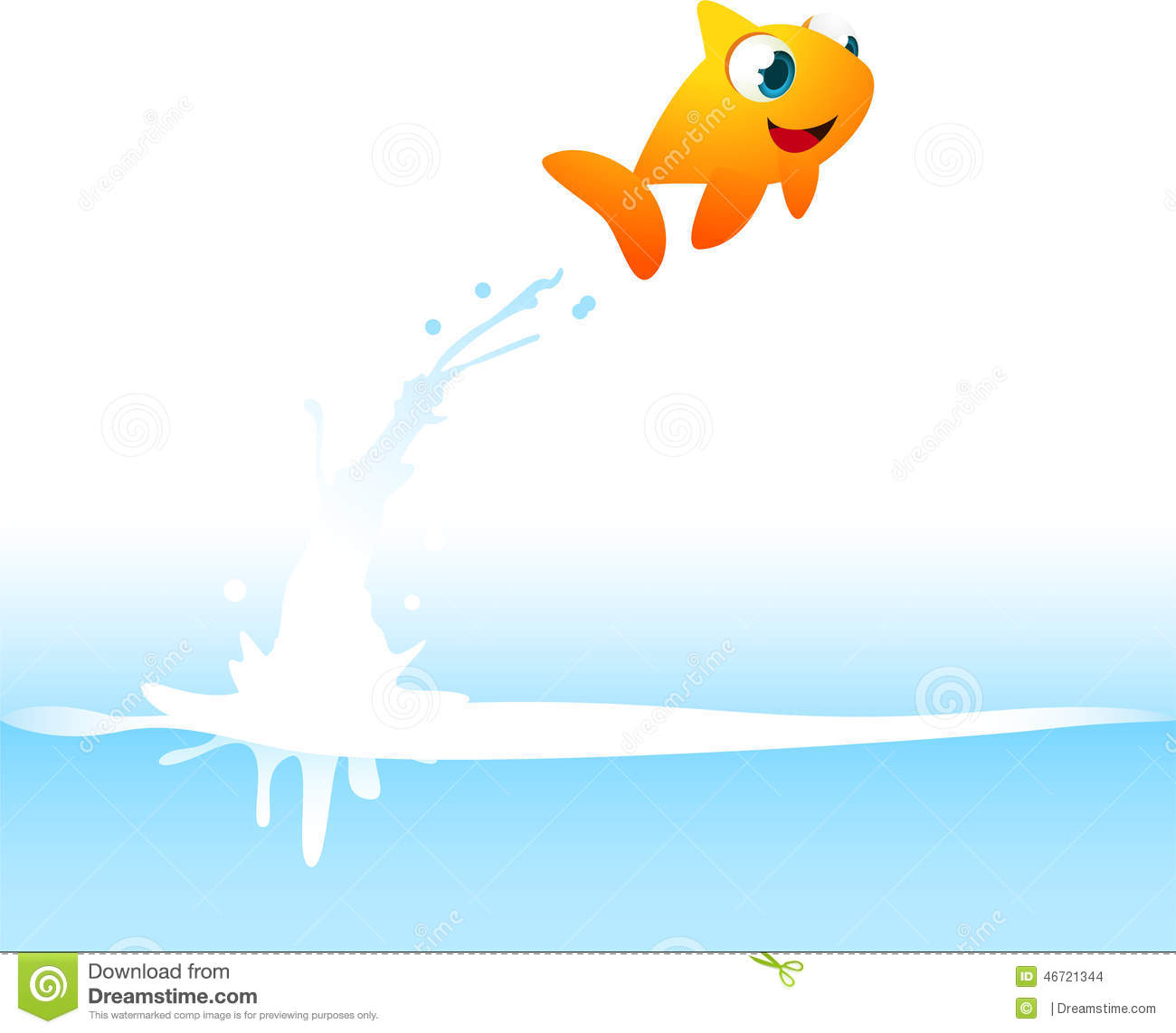 Cartoon fish jumping out of water clipart - photo#4