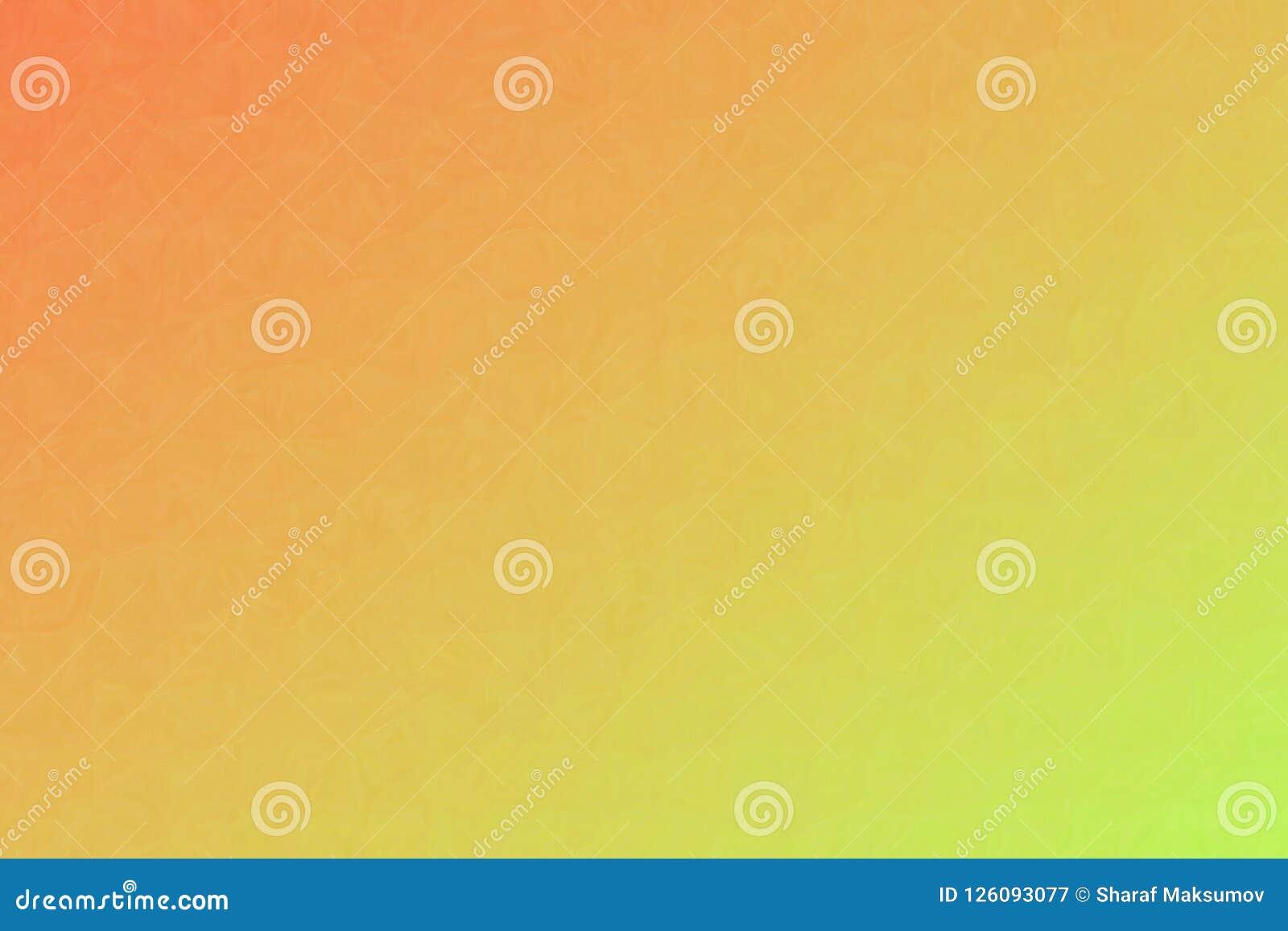 Orange and green Oil Pastel background illustration.