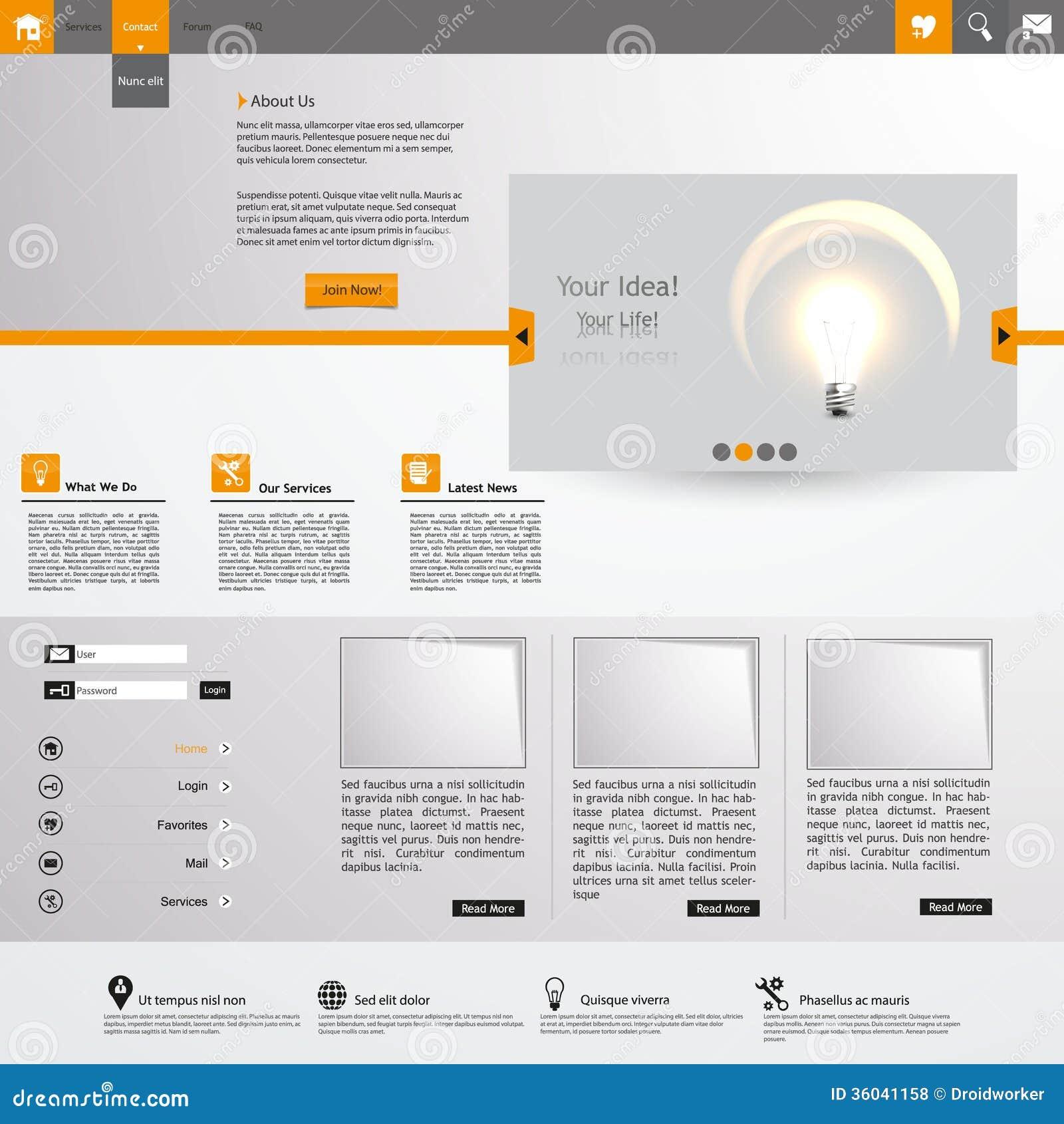Atemberaubend Orange Website Vorlagen Zeitgenössisch - Entry Level ...