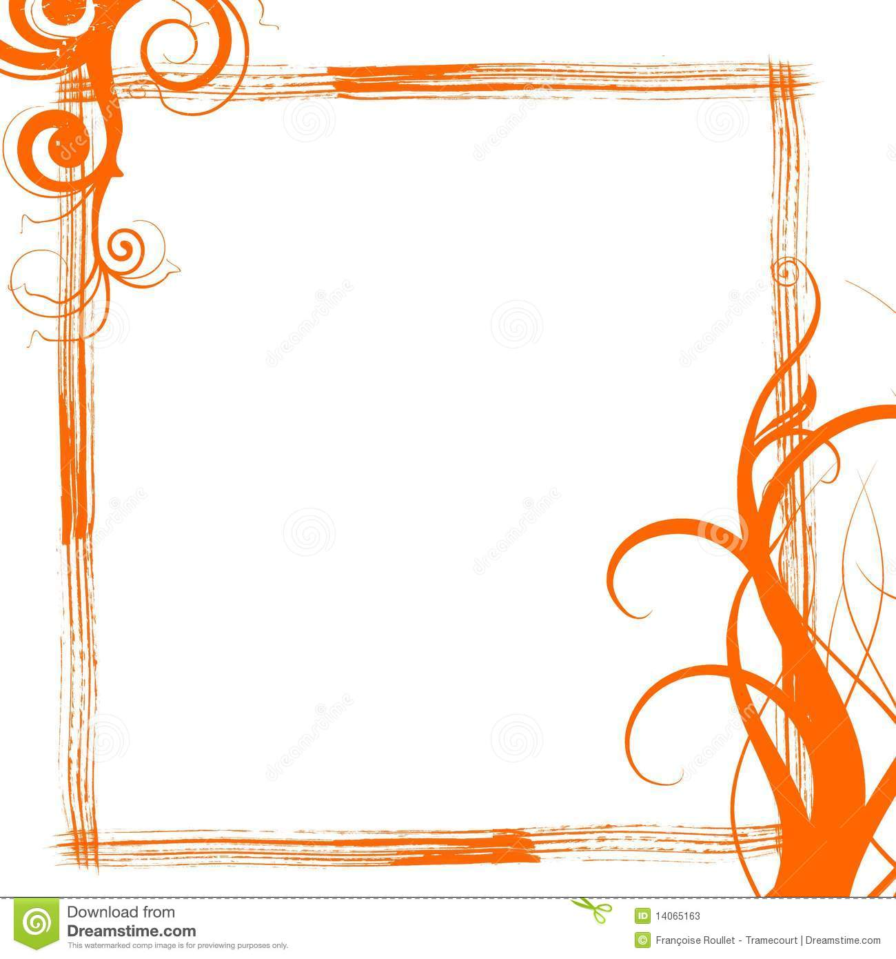 orange grunge swirls frame stock illustration illustration of