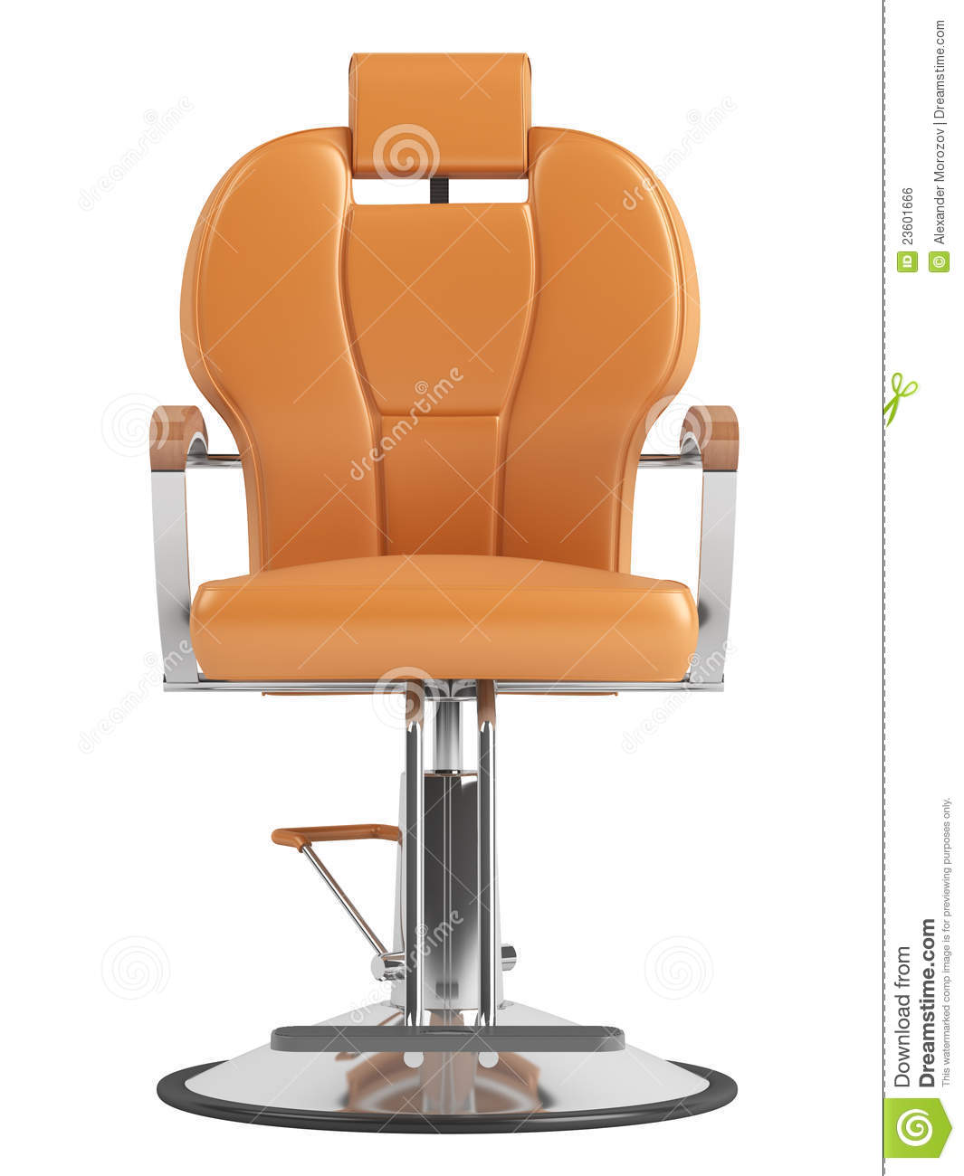 Orange hairdressing salon chair royalty free stock image for Hairdressing chairs
