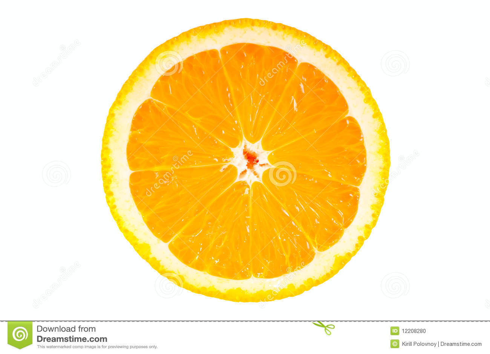 Orange half isolated