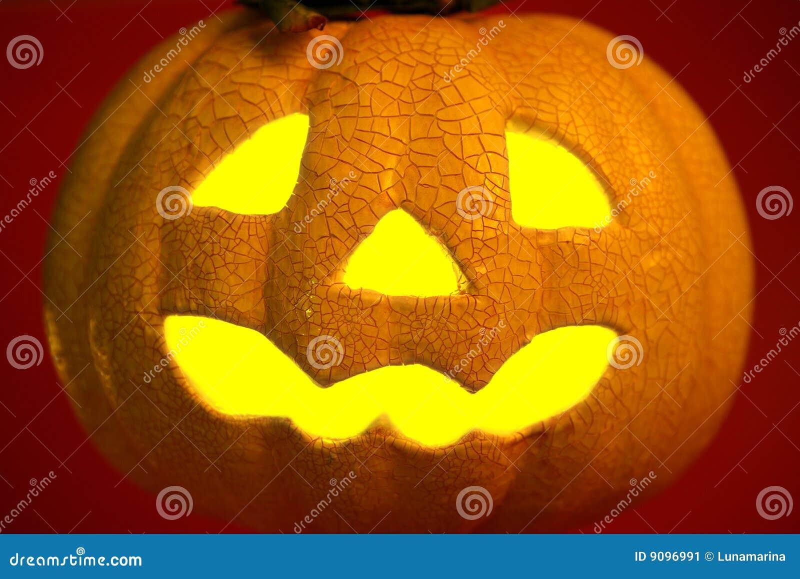 Orange Halloween-Kürbis