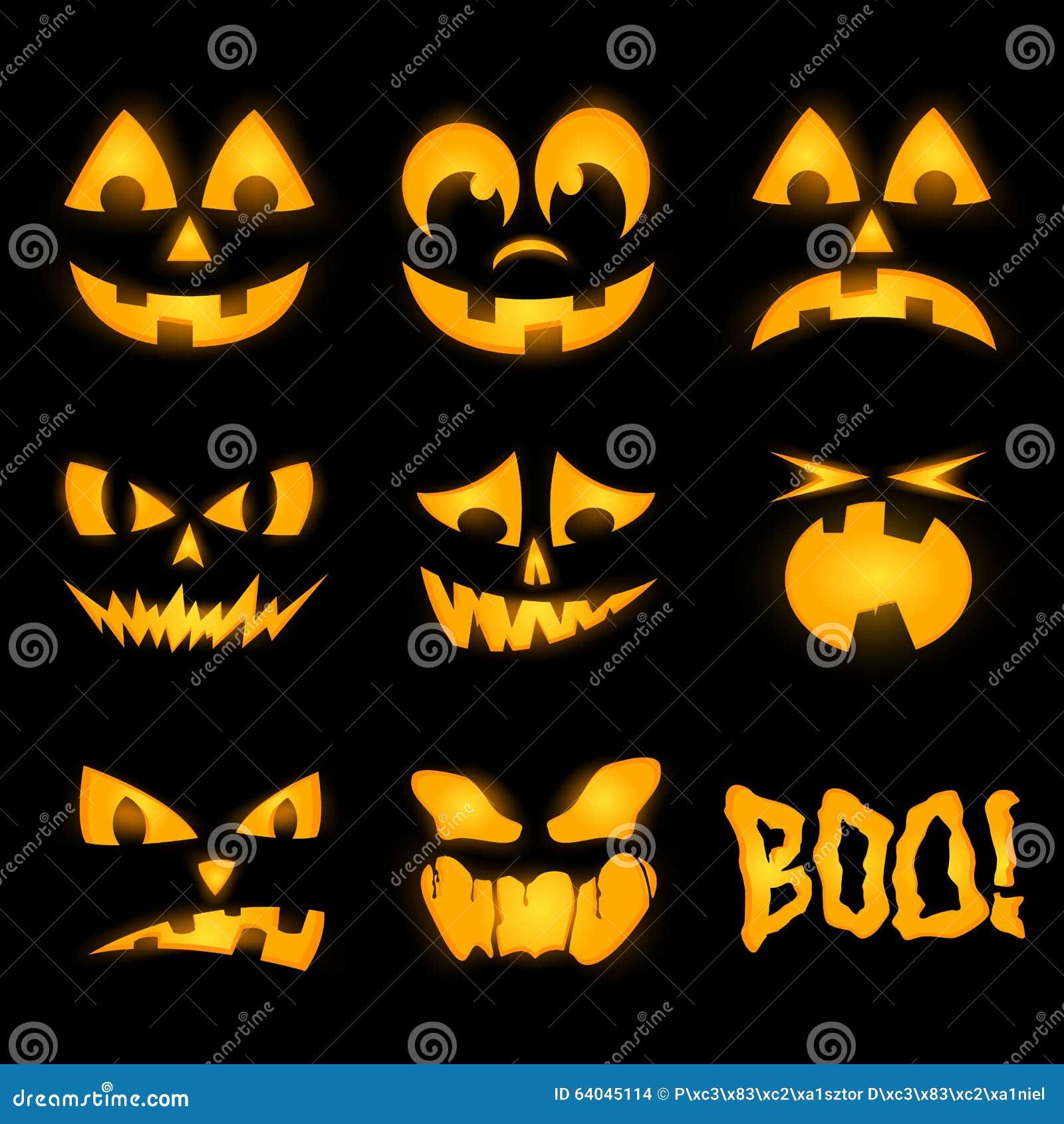 orange halloween k rbisgesichter stock abbildung illustration von laterne hintergrund 64045114. Black Bedroom Furniture Sets. Home Design Ideas