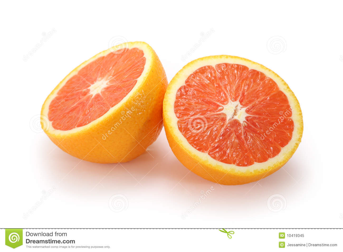 Royalty Free Stock Photo: Orange halves Images - Frompo