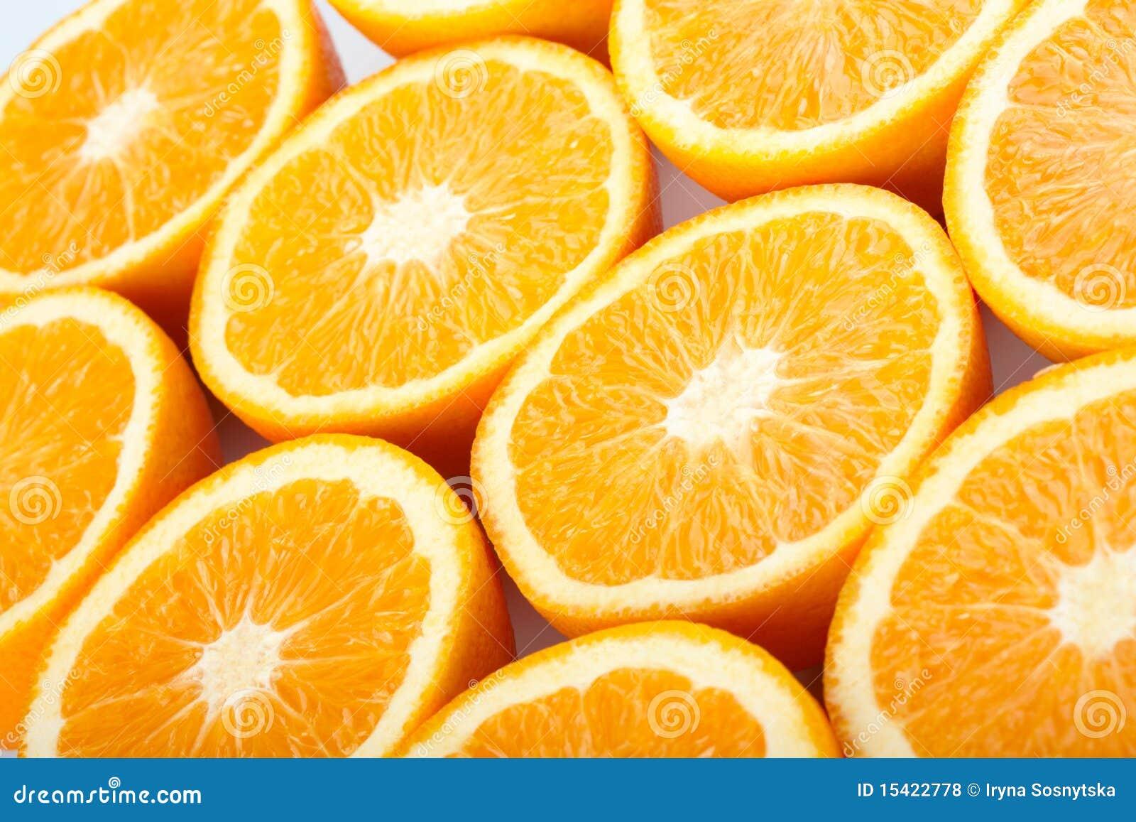 Orange halves