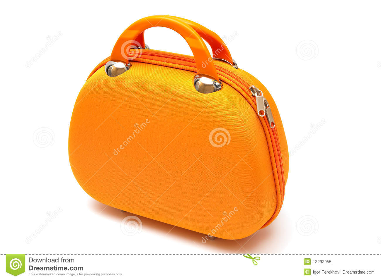 Royalty Free Stock Photo: Orange handbag