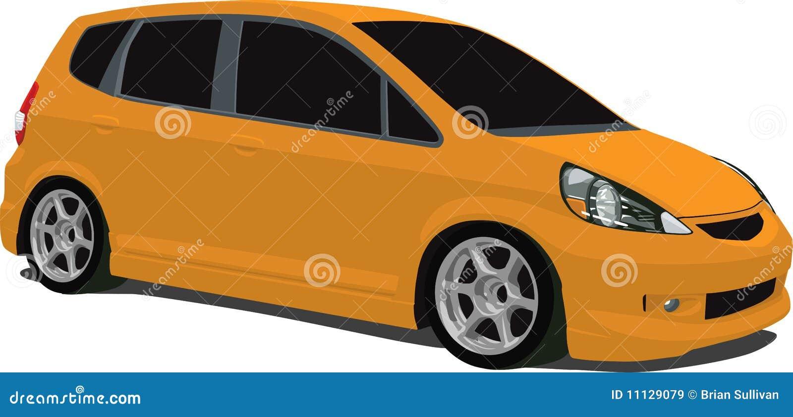 Orange honda fit royalty free stock images image 11129079 for Orange honda fit