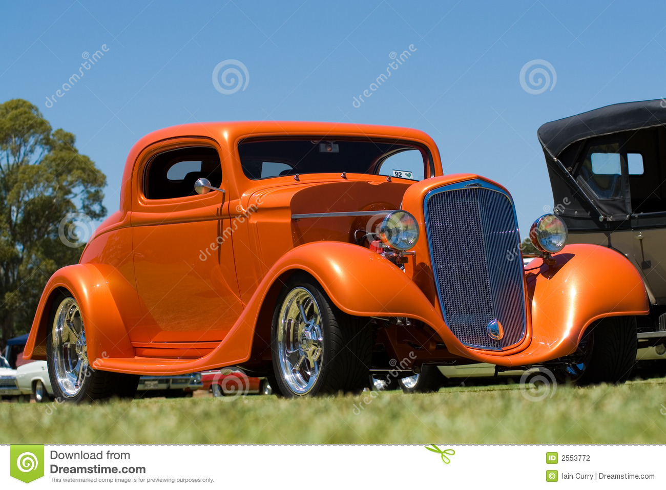 Orange Hot Rod Car stock photo. Image of automobile, show - 2553772