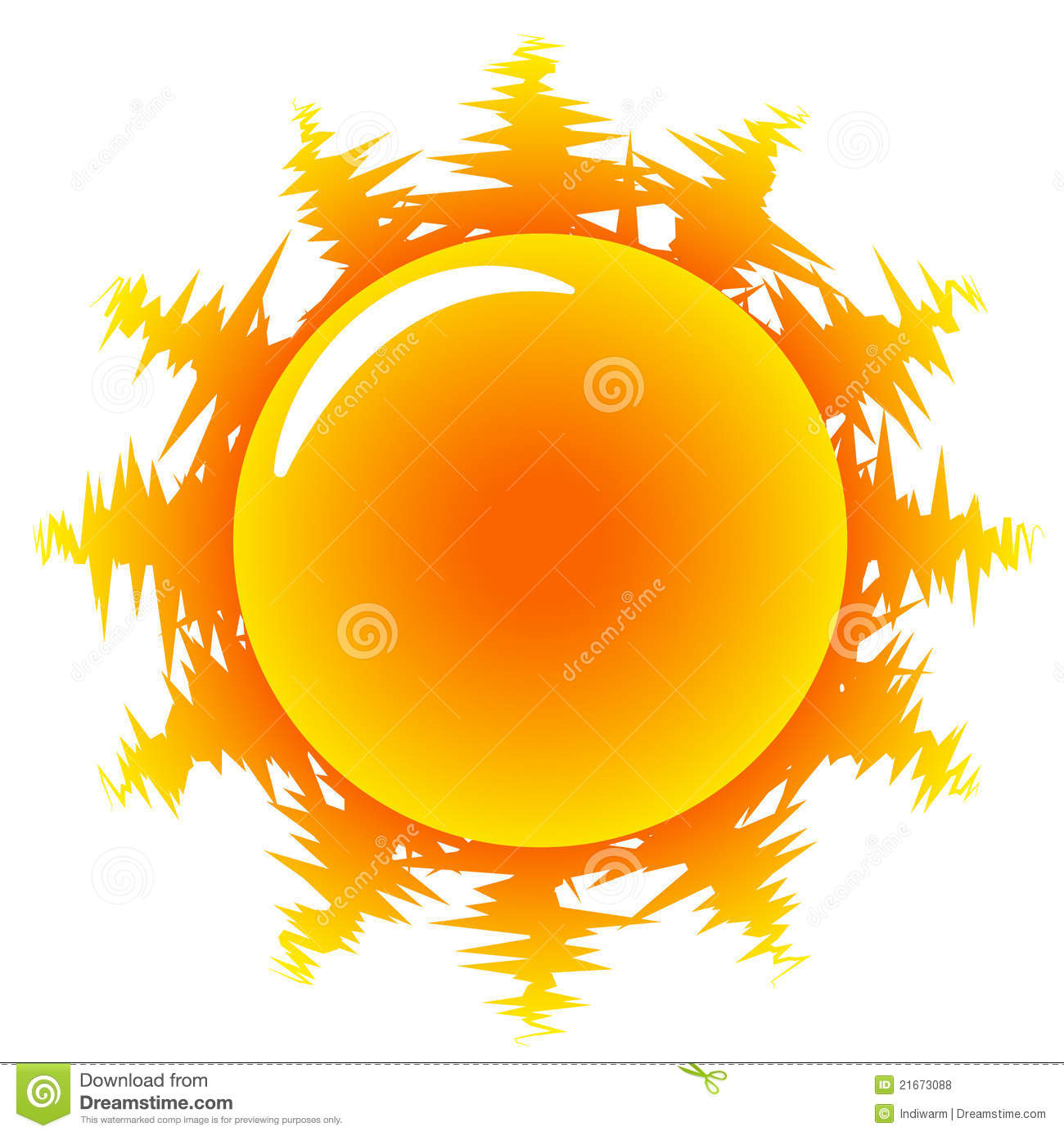 Orange Hot Sun Illustration Royalty Free Stock Photos - Image ...
