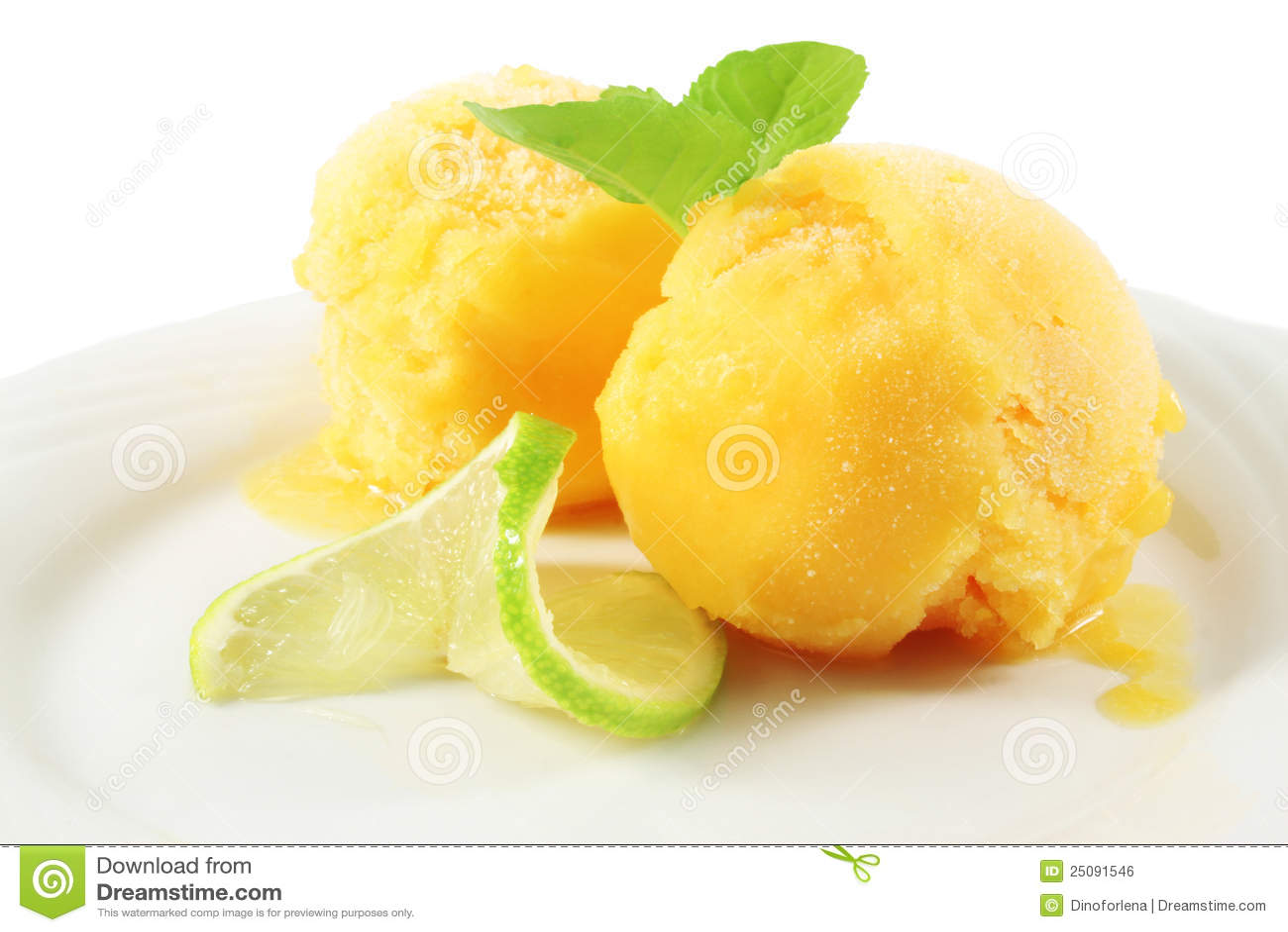 Orange Ice Cream Royalty Free Stock Image - Image: 25091546