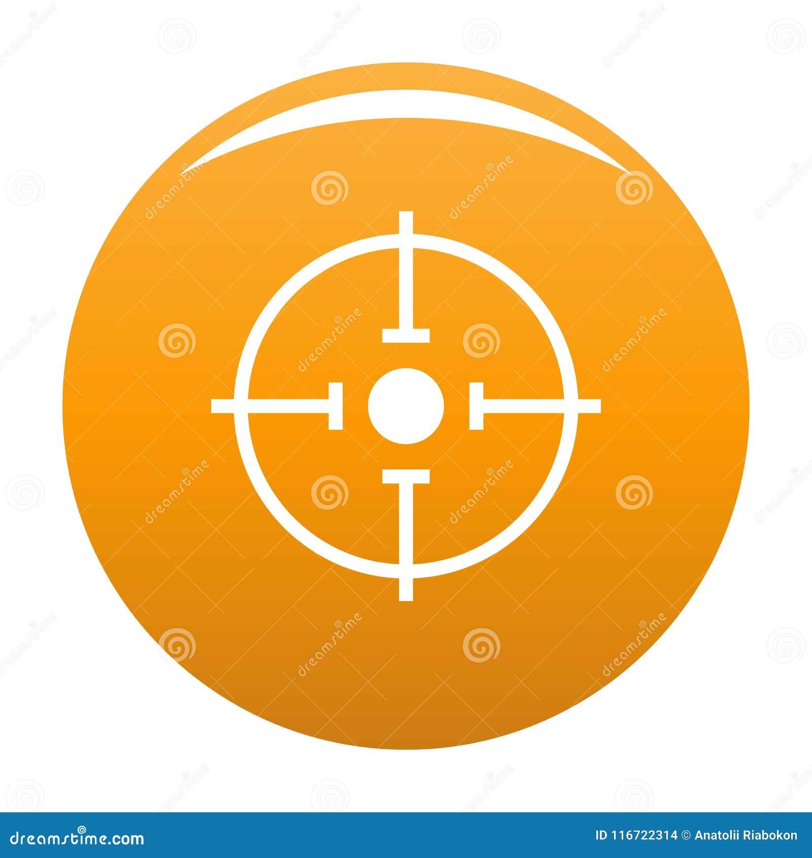 Orange importante de vecteur d icône de cible