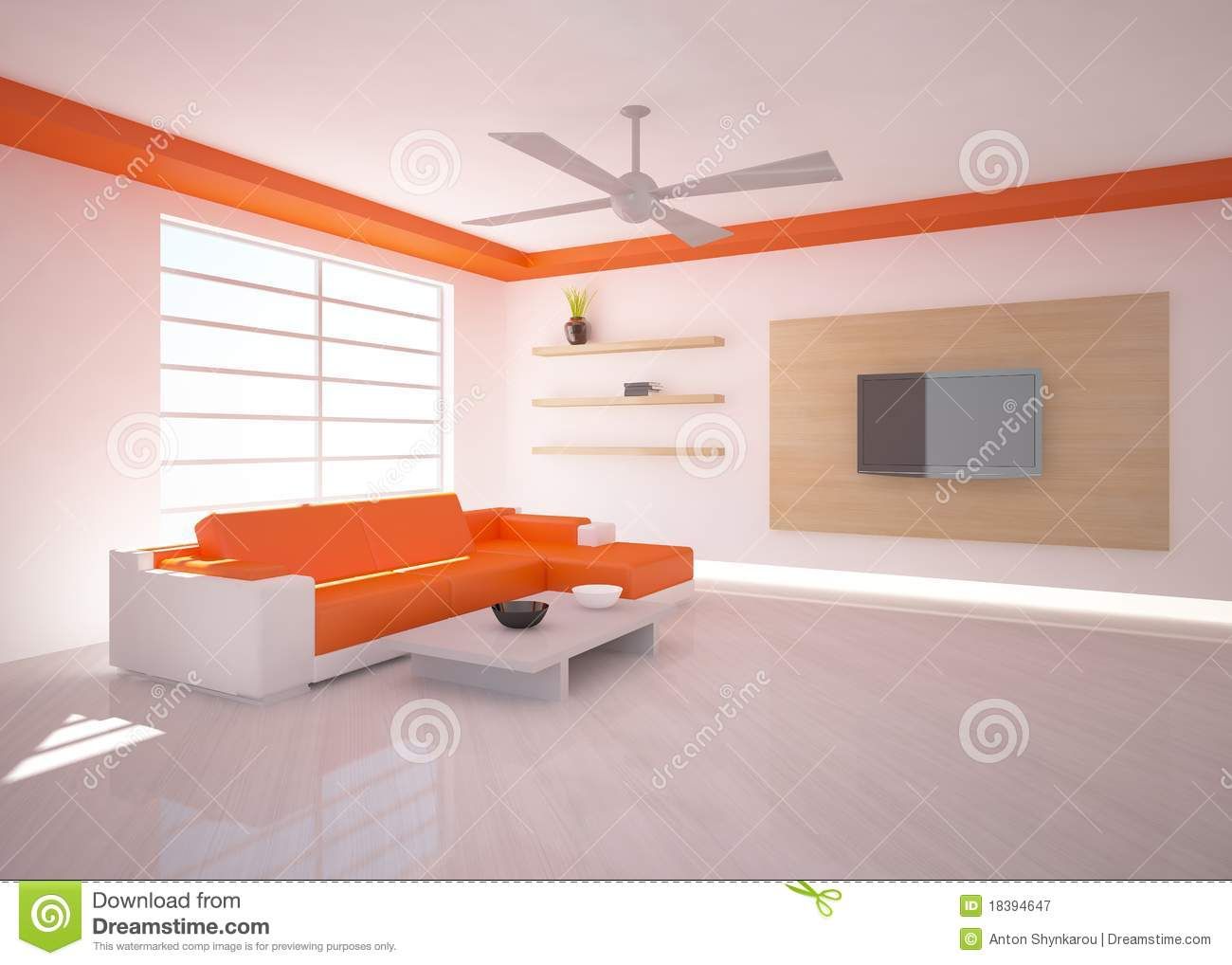 Orange Interior Design Royalty Free Stock Photography