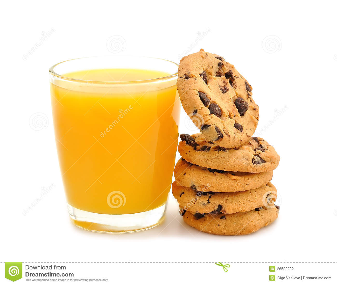 Orange Juice And Cookies Stock Photography - Image: 26583282