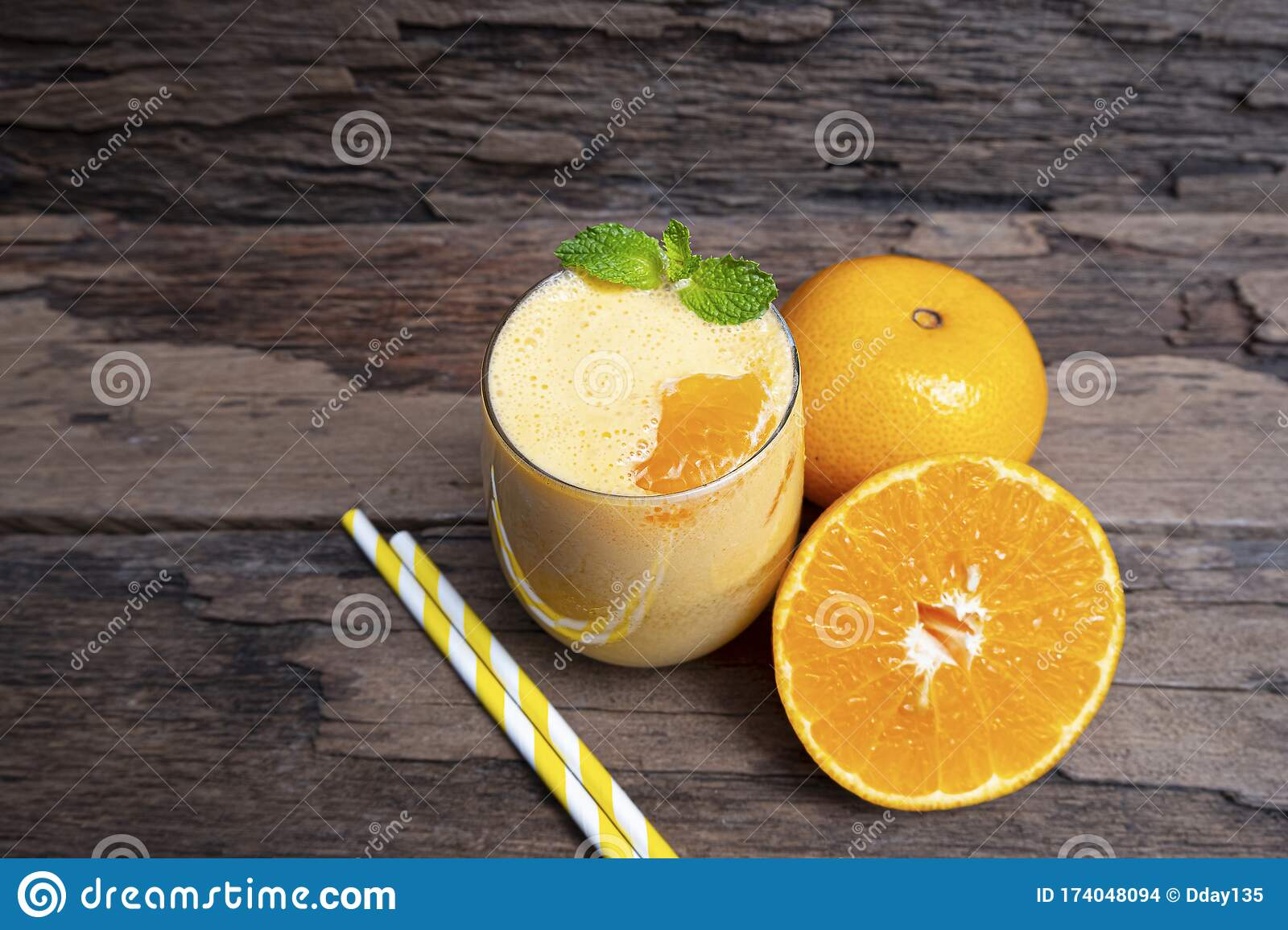 Orange Juice Fruit Smoothies Yogurt Drink Yellow Healthy Delicious Taste In A Glass Slush For Weight Loss Stock Photo Image Of Detox Cocktail 174048094