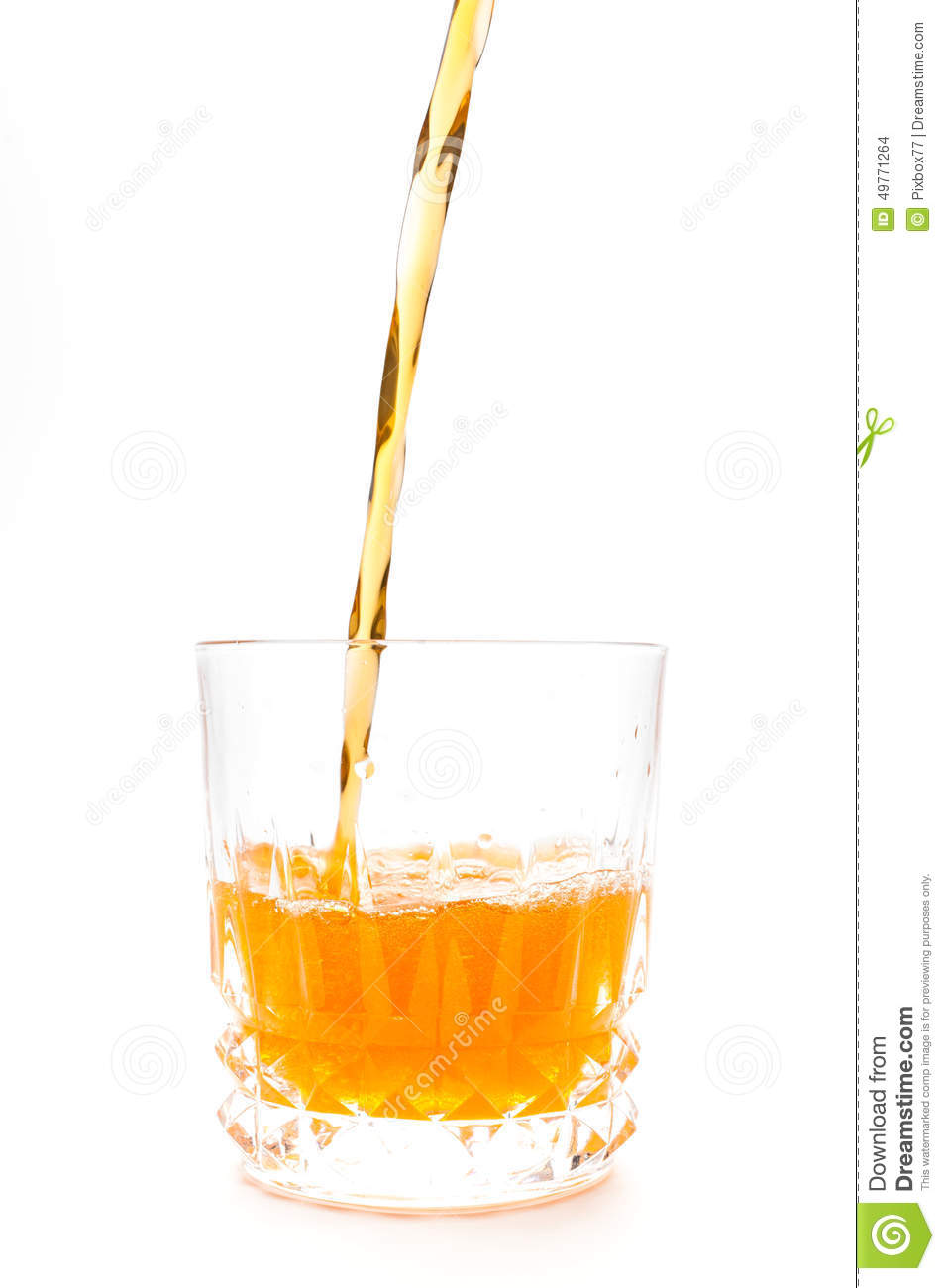 Orange juice into the glass isolated stock photo image for Wine and orange juice name