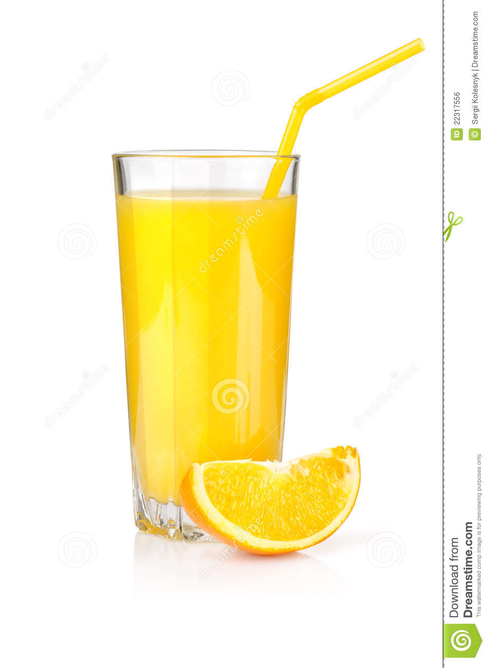 Cup Of Juice Clipart Orange juice in a glass on a