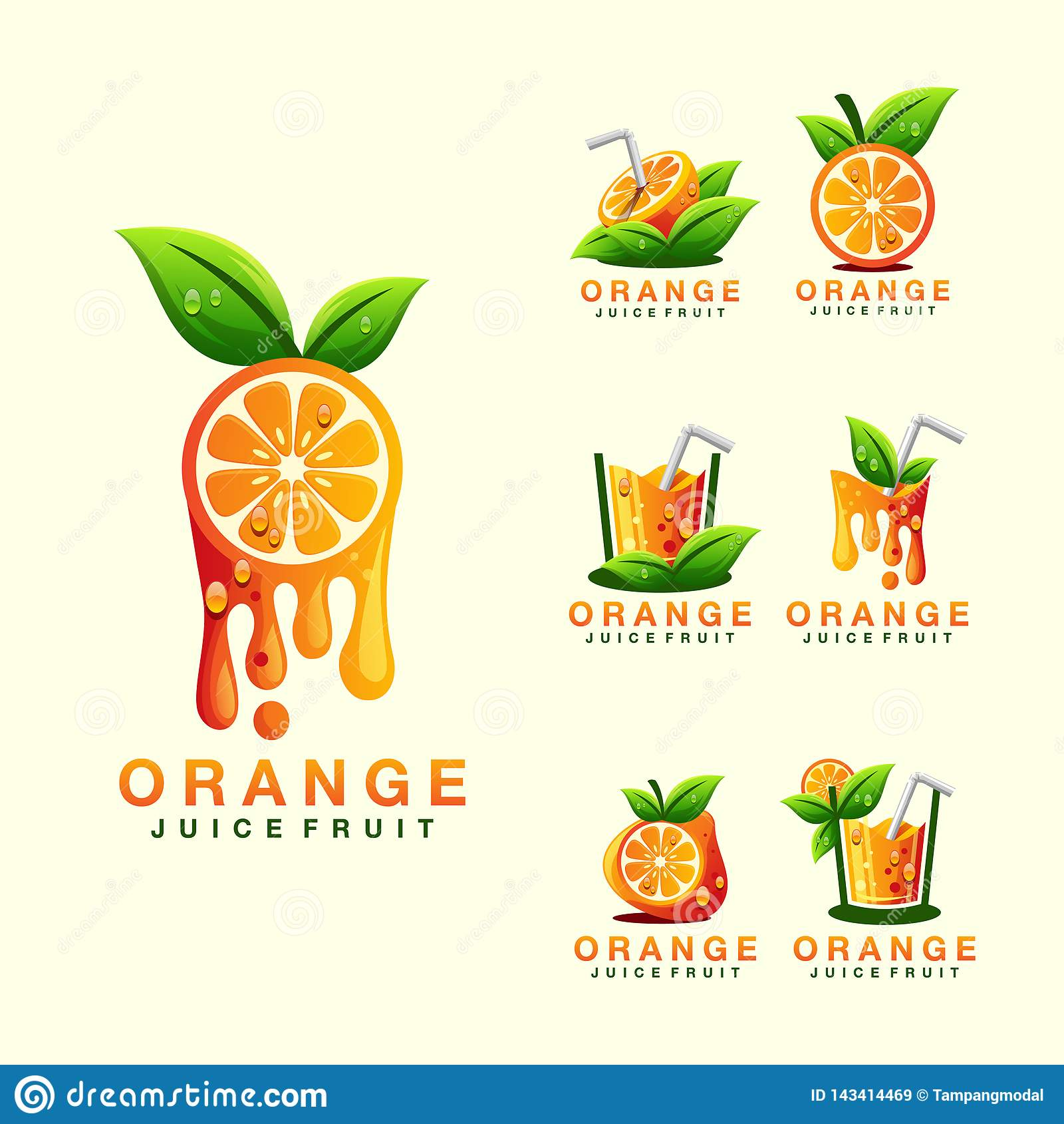 orange juice logo design ready for use stock vector illustration of diet leaf 143414469 https www dreamstime com orange juice logo image143414469