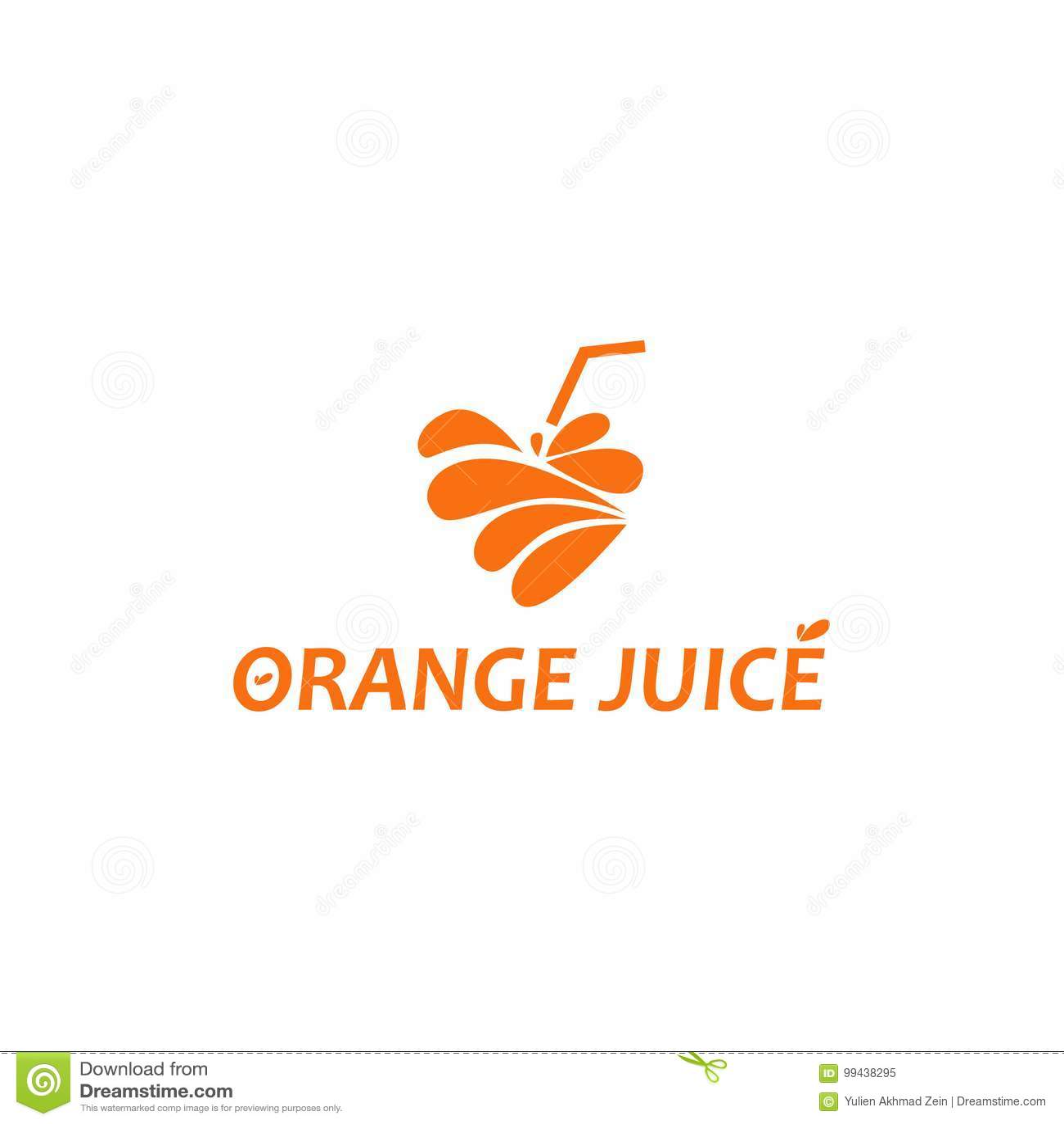 Orange Juice Logo stock vector  Illustration of chat - 99438295