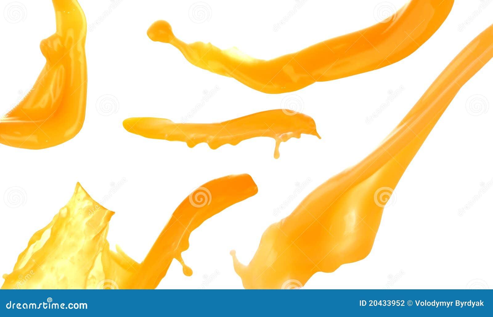 orange juice splash stock photography image 20433952