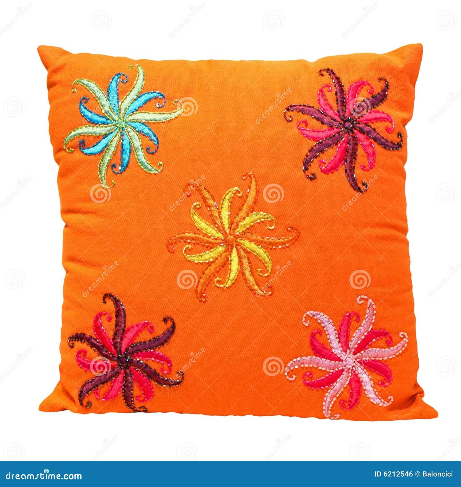 orange kissen lizenzfreies stockbild bild 6212546. Black Bedroom Furniture Sets. Home Design Ideas