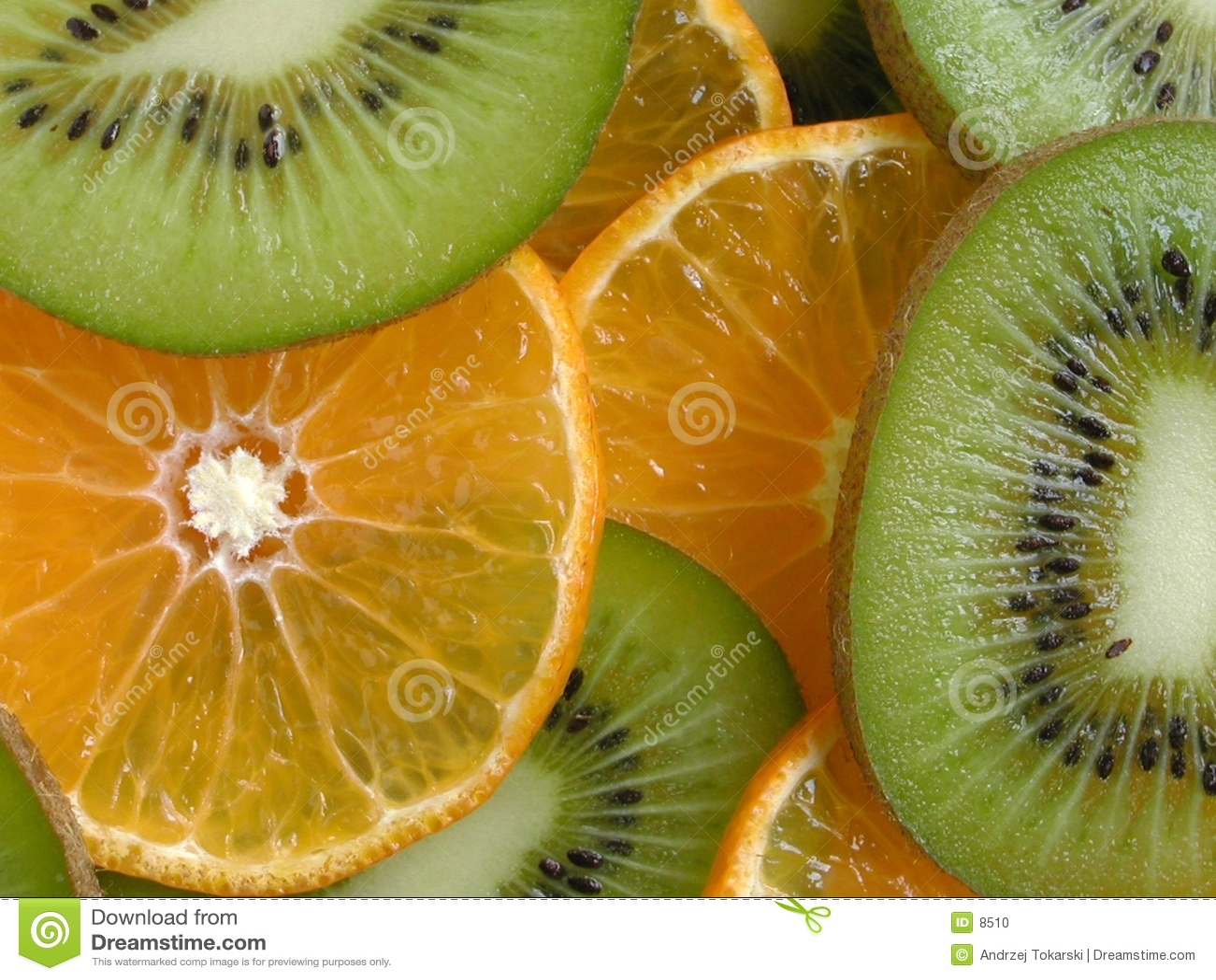 Orange and Kiwi Slices