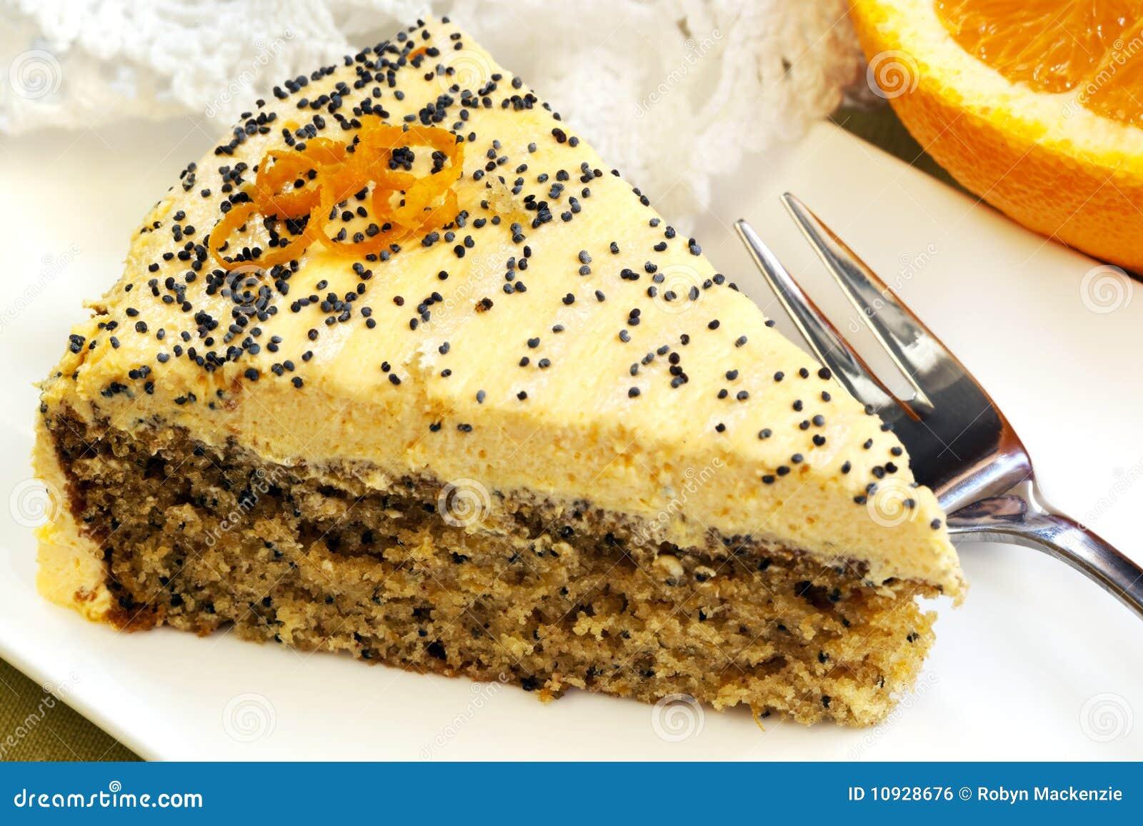 Orange kuchen mit mohn stockfoto bild von s bild for Kuchen mit bild