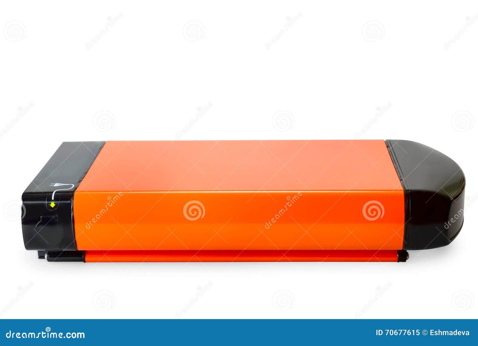 Orange li-ion battery for e-bike