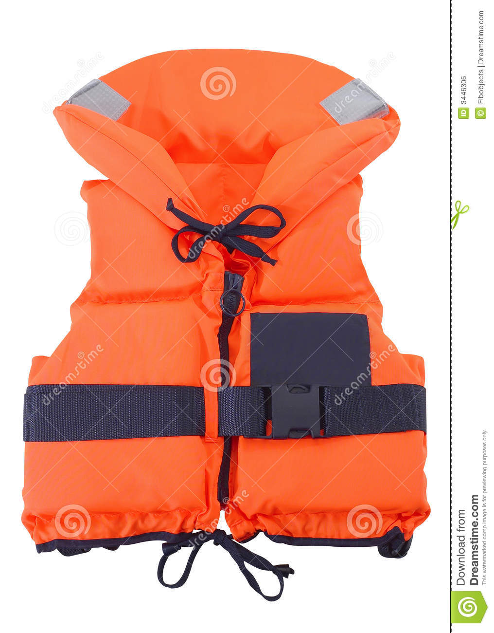 Orange Life Jacket Royalty Free Stock Image Image 3446306