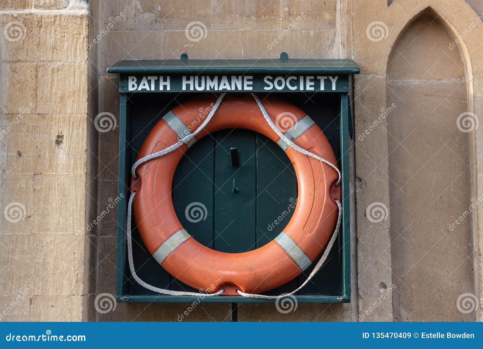 Orange life preserver in Bath Humane Society holder
