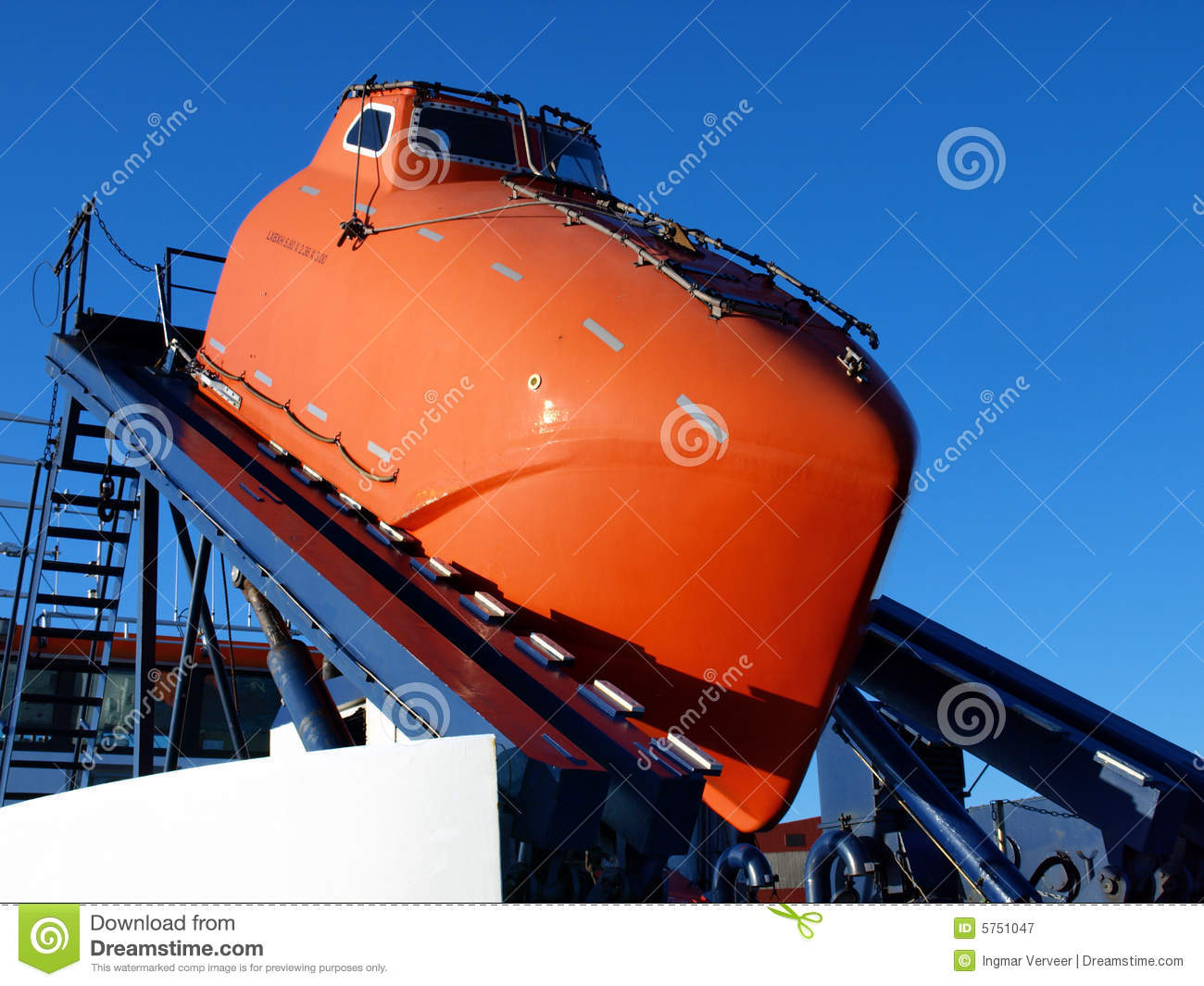 Orange Lifeboat Stock Image Image Of Maritime Explosion