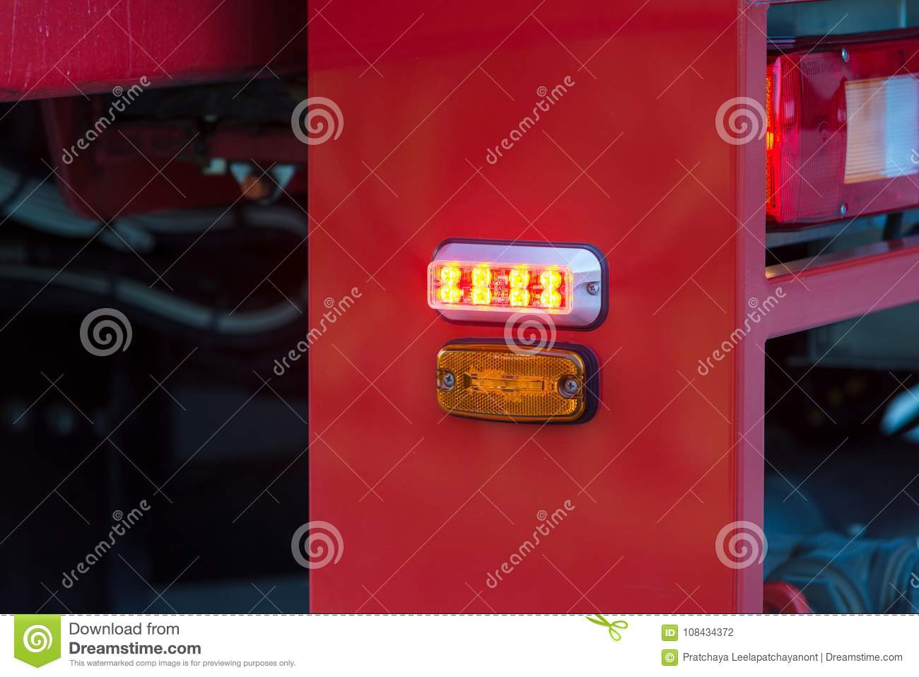 Download Orange Lights And Sirens On Fire Trucks Stock Photo   Image Of  Rescue, Modern
