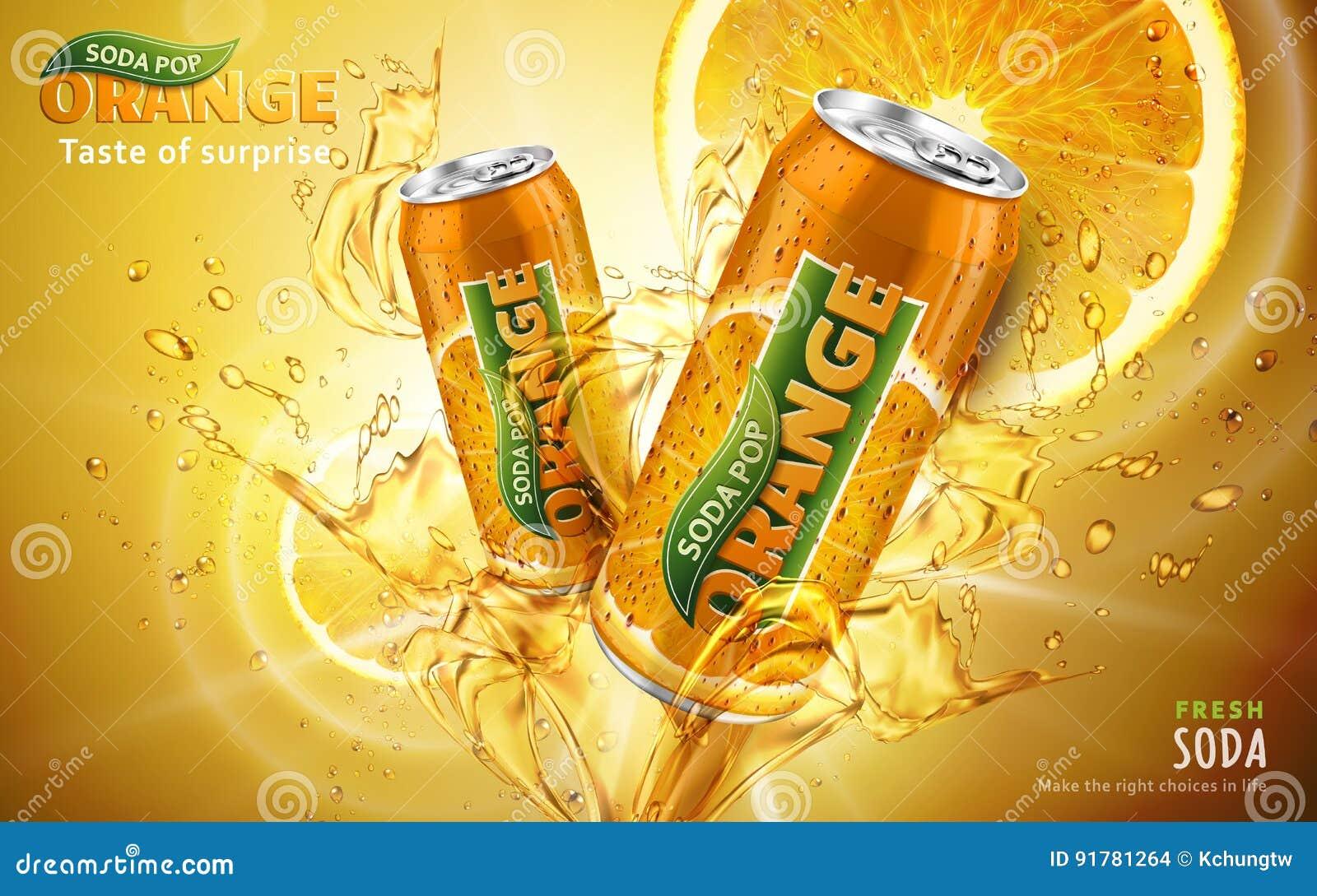 Orange Limonadeanzeige