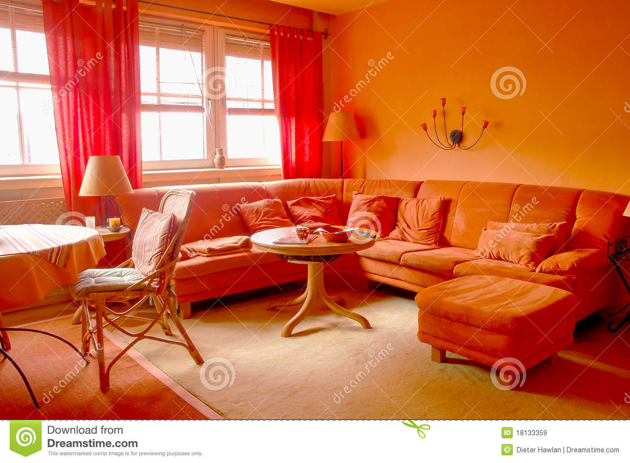 Living Room Red And Orange Living Room orange living room royalty free stock images image 18133359 room