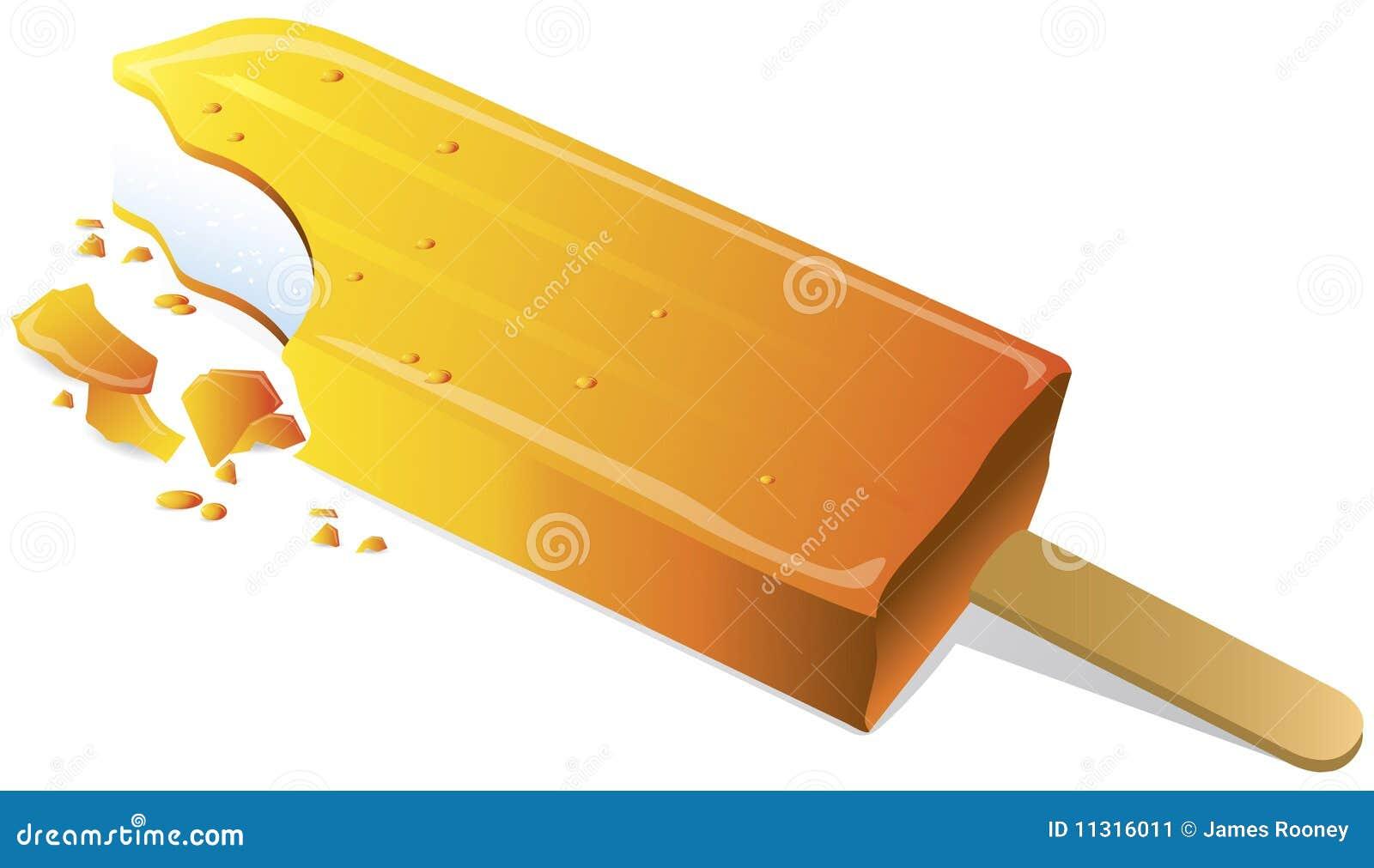 Orange Lutschbonbon
