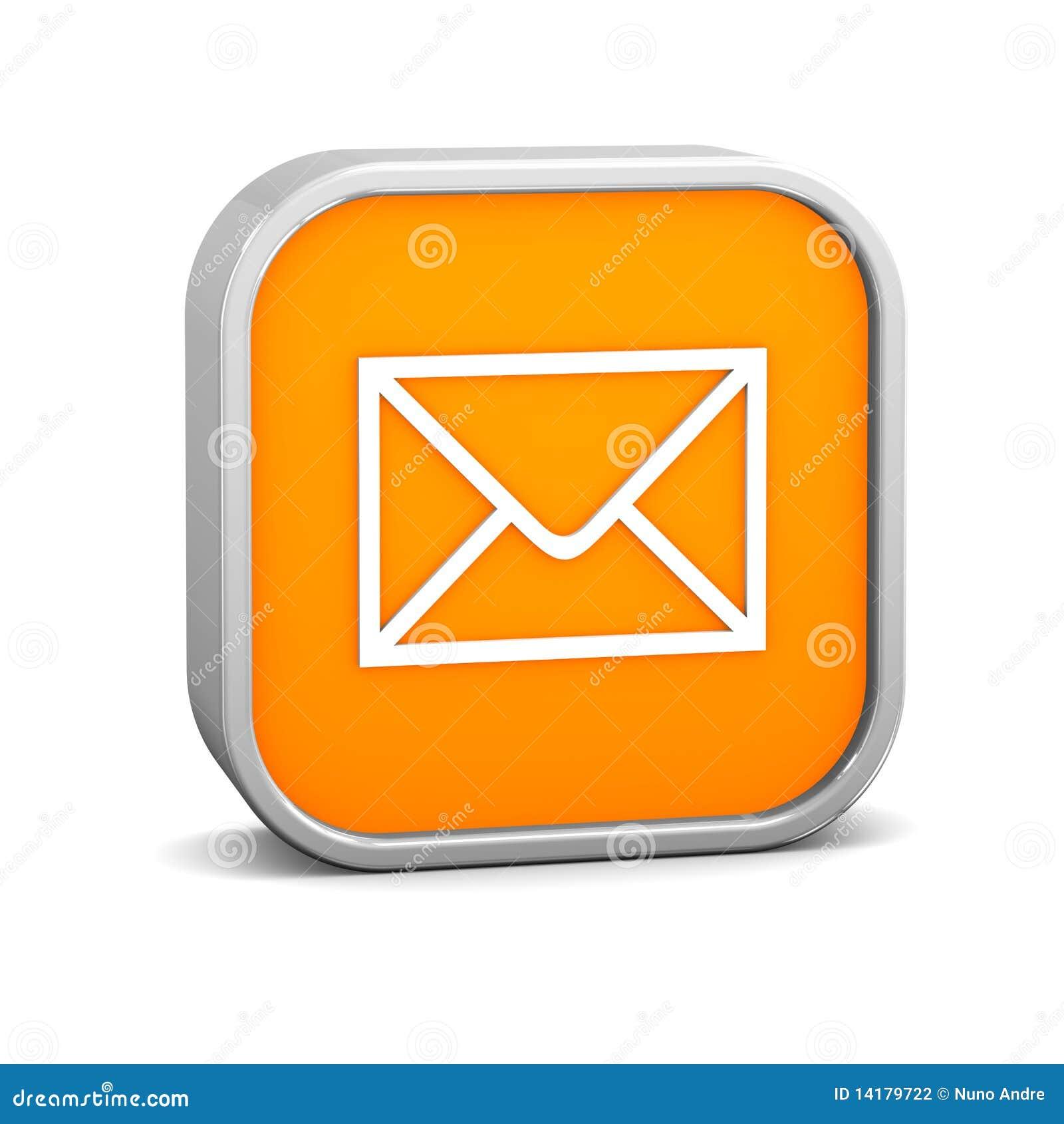 Orange Mail Sign