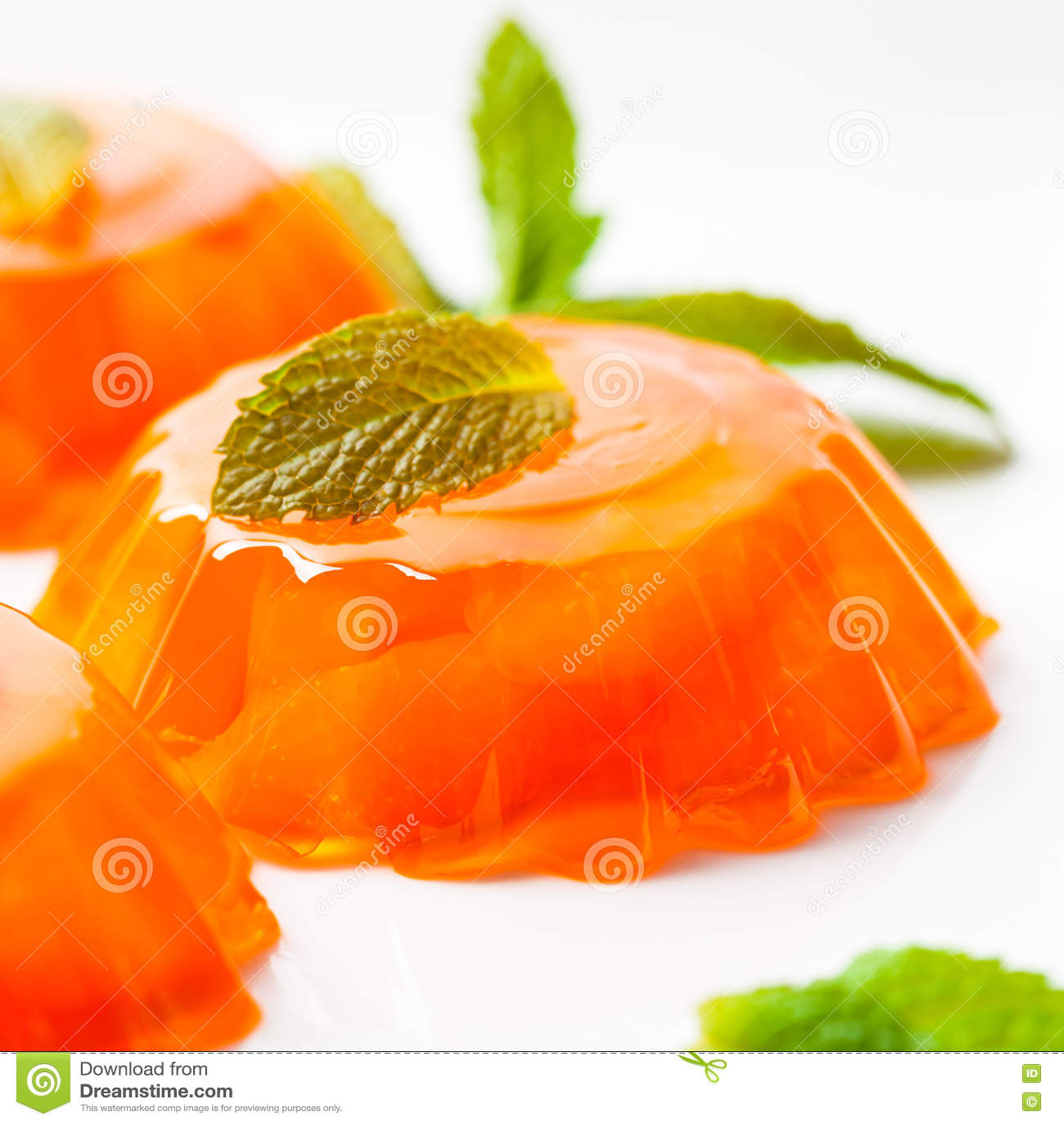 Orange Mandarin Tangerine Jelly Desserts