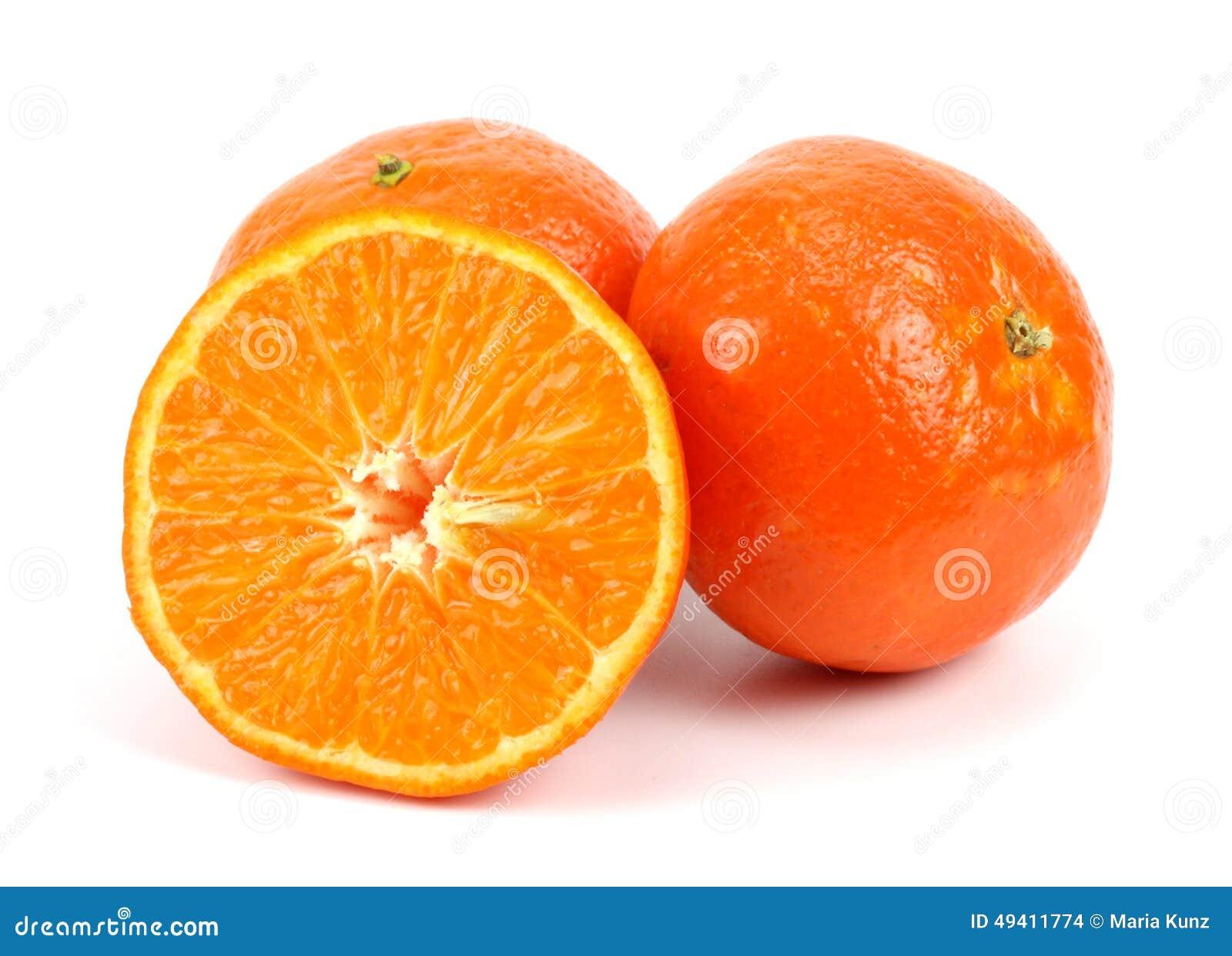 Download Orange Mandarinen- Oder Tangerinefrucht Lokalisiert Auf Weißem Hintergrund Stockfoto - Bild von frische, nachricht: 49411774