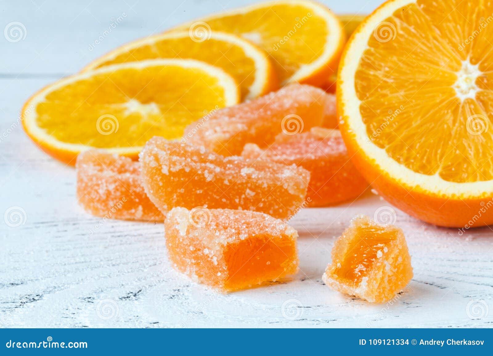 orange marmelad with slided oranges on table stock photo image of