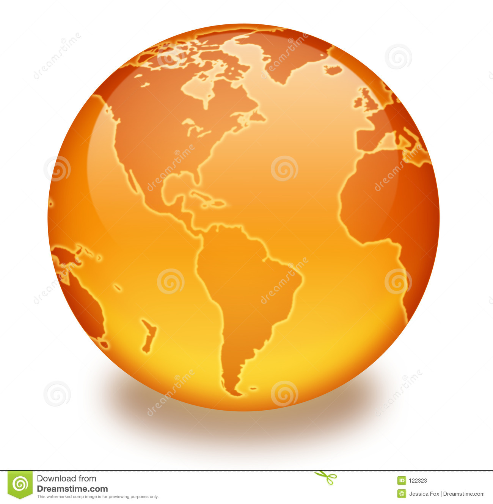 Orange Marmorkugel