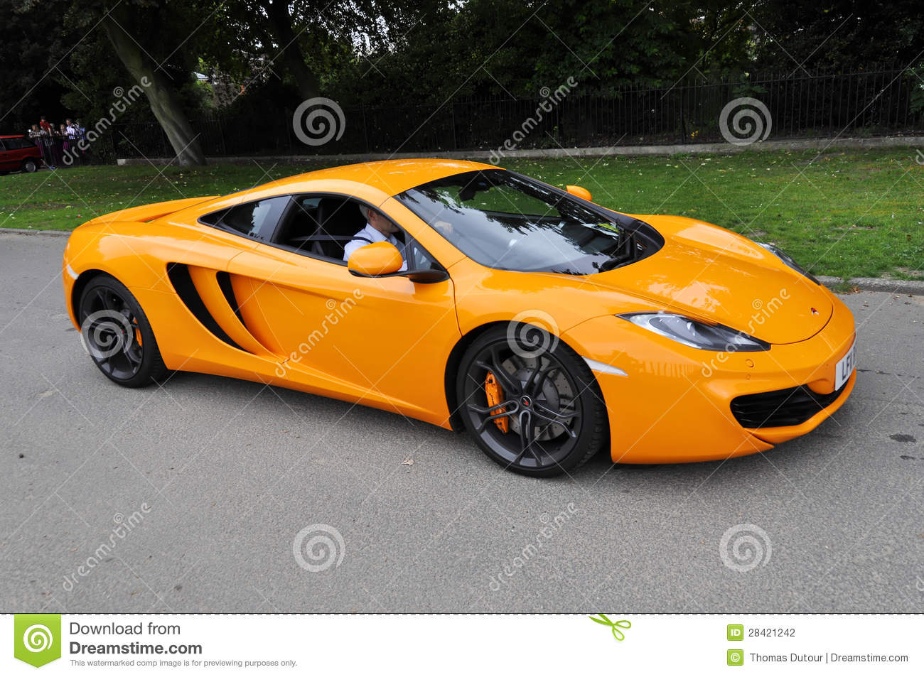 orange mclaren mp4-12c editorial photography. image of rapid - 28421242
