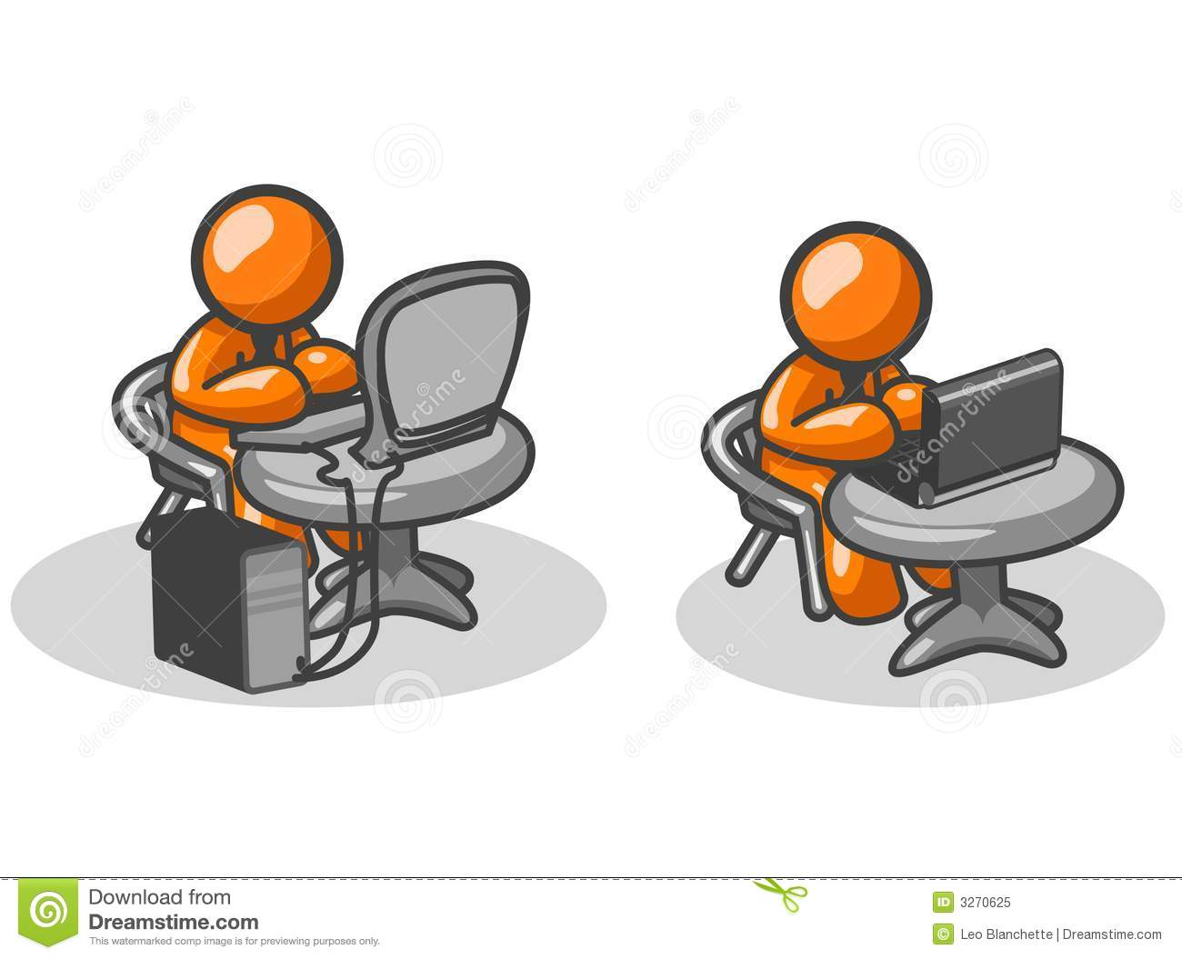 Orange Men At Work Royalty Free Stock Photo Image 3270625