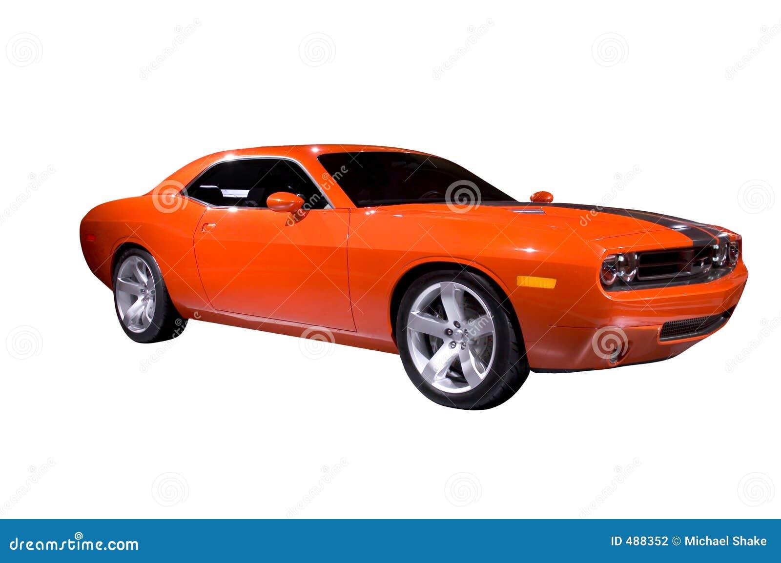Orange Muscle Car Stock Photo Image Of Over Custom Automobiles